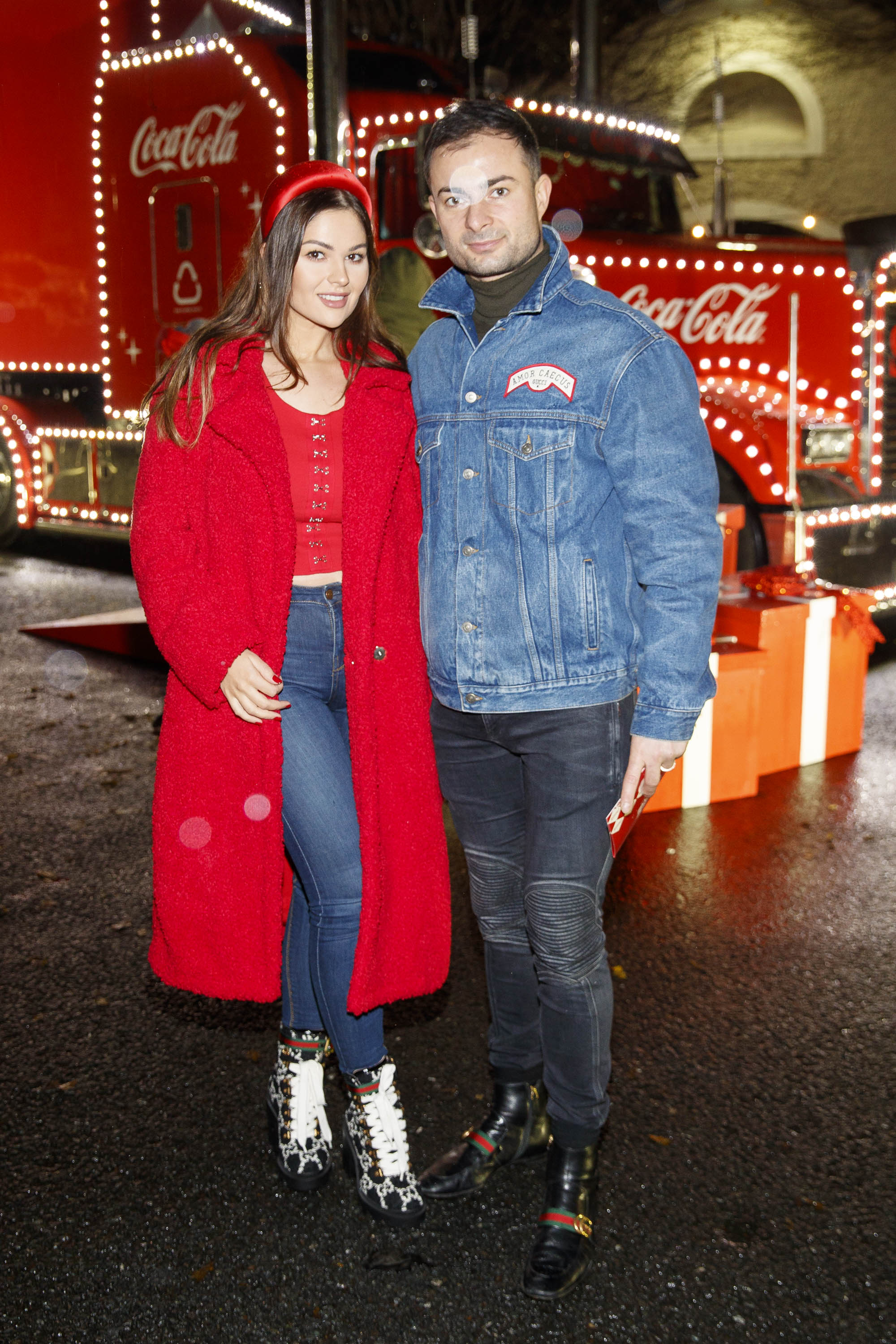 Natalia and Bogdam Petric pictured at Coca-Cola's Christmas Truck Tour launch which took place Monday 25th November at the RDS, Dublin. Photo: Andres Poveda