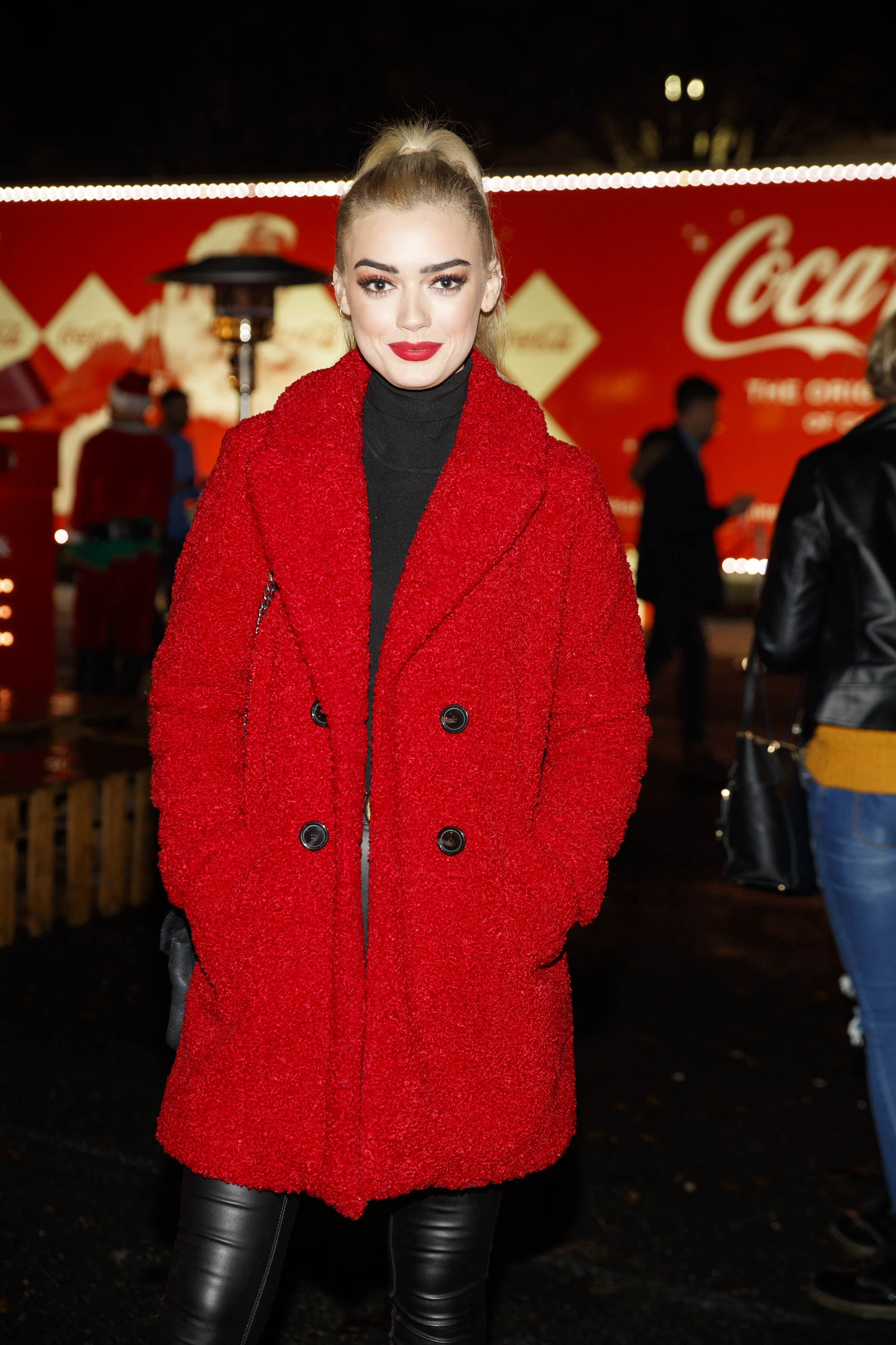 Jo Archbald pictured at Coca-Cola's Christmas Truck Tour launch which took place Monday 25th November at the RDS, Dublin. Photo: Andres Poveda