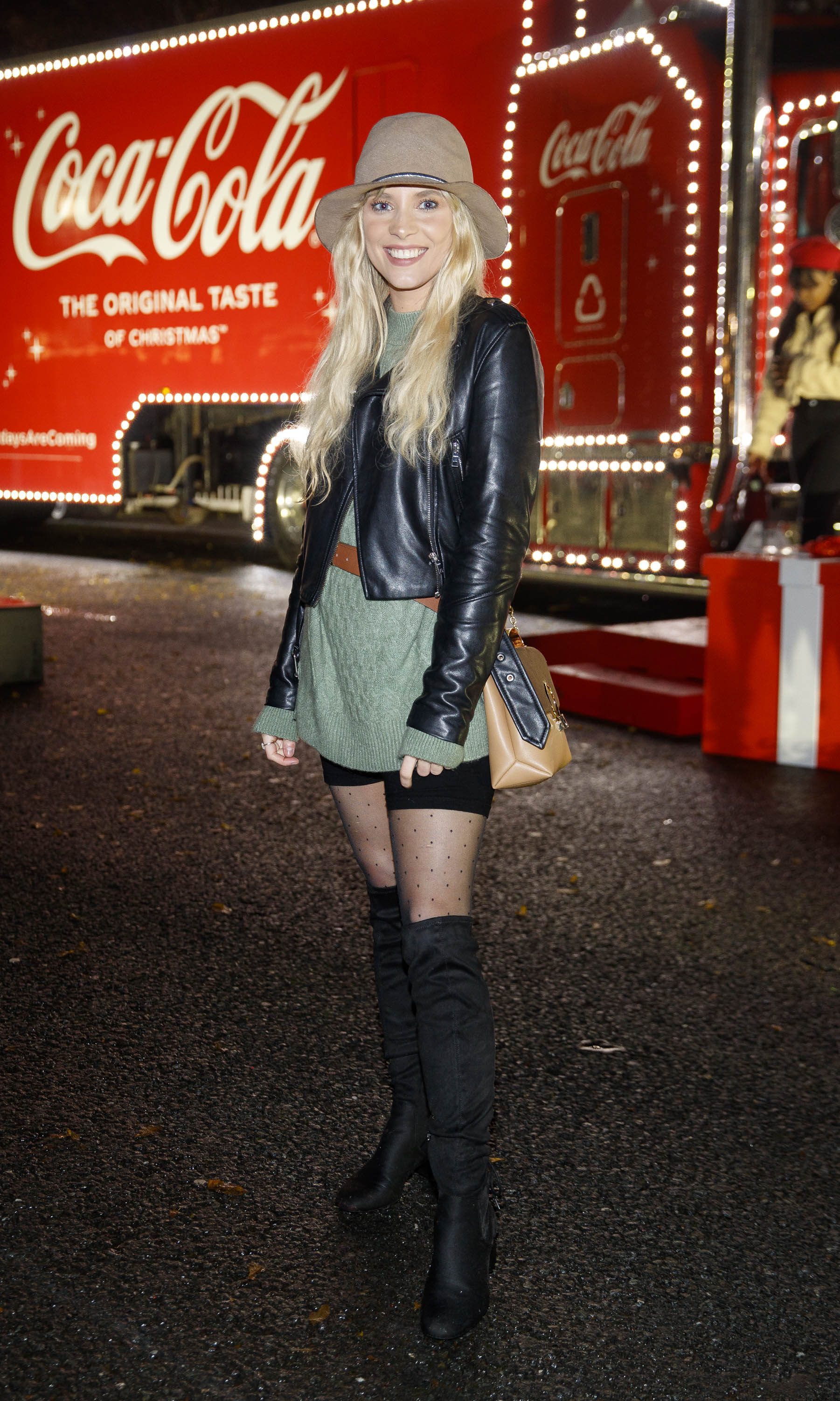 Maja Moranska pictured at Coca-Cola's Christmas Truck Tour launch which took place Monday 25th November at the RDS, Dublin. Photo: Andres Poveda