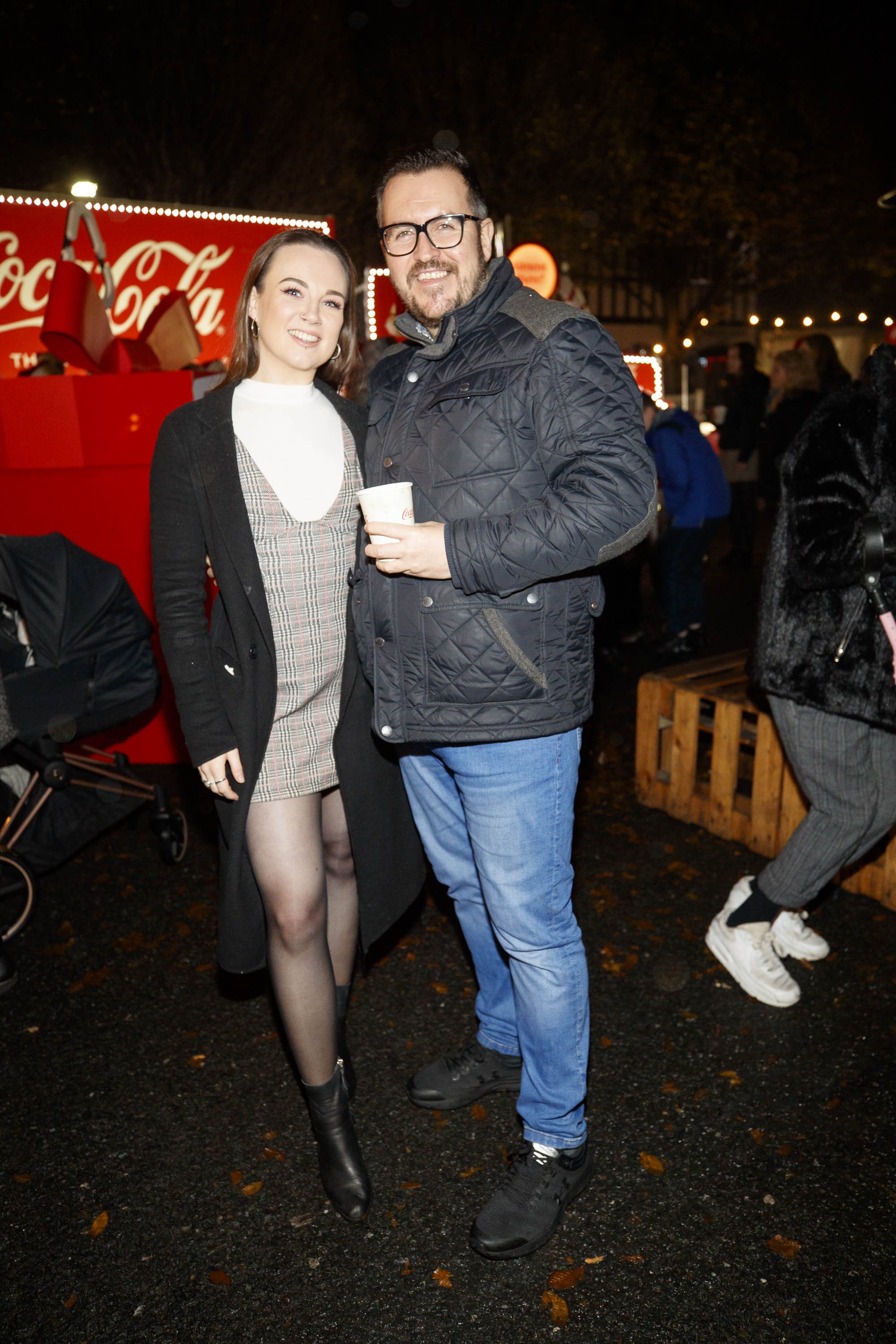 Hannah Moyne and Clyde Carroll pictured at Coca-Cola's Christmas Truck Tour launch which took place Monday 25th November at the RDS, Dublin. Photo: Andres Poveda