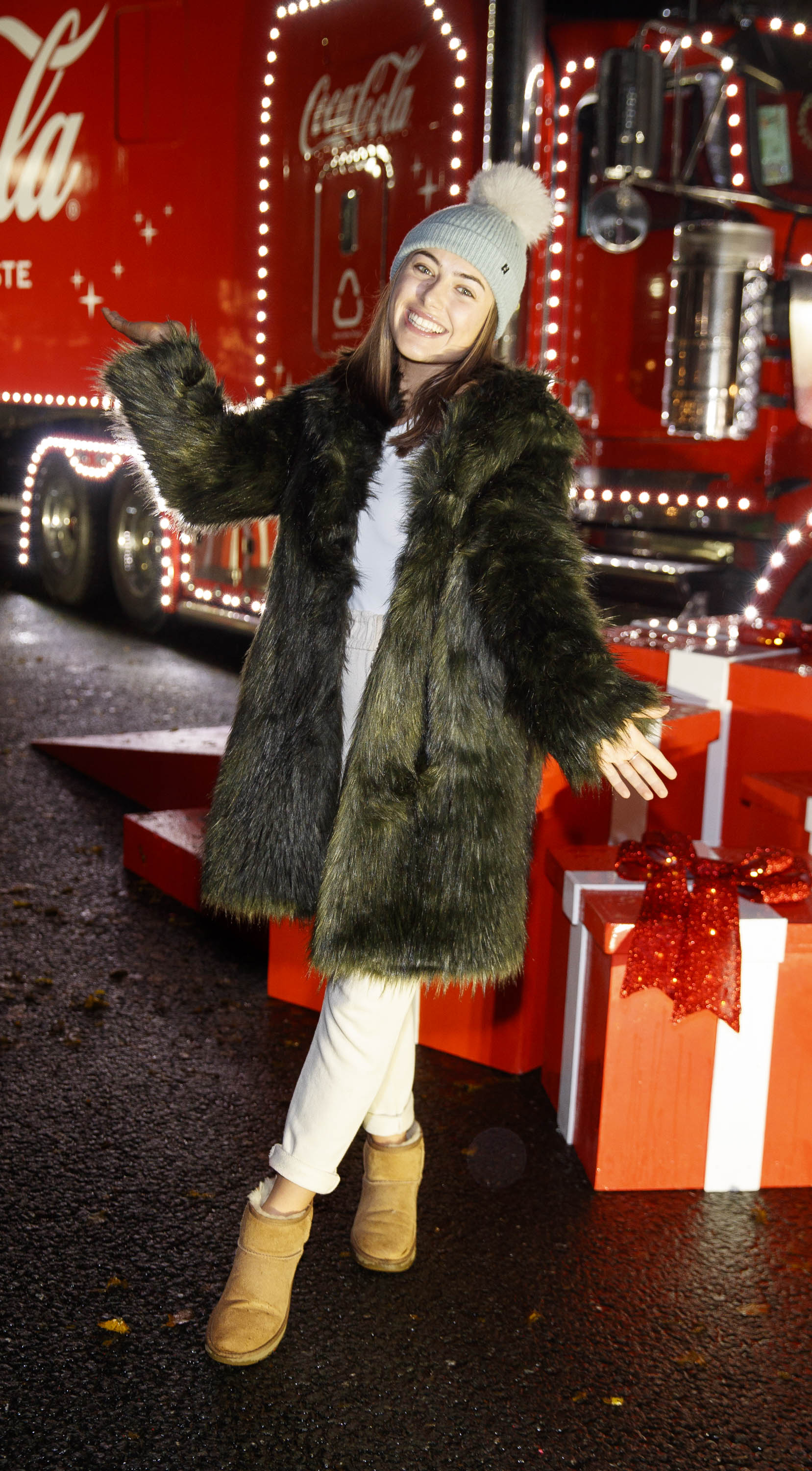 Chloe Ormond pictured at Coca-Cola's Christmas Truck Tour launch which took place Monday 25th November at the RDS, Dublin. Photo: Andres Poveda