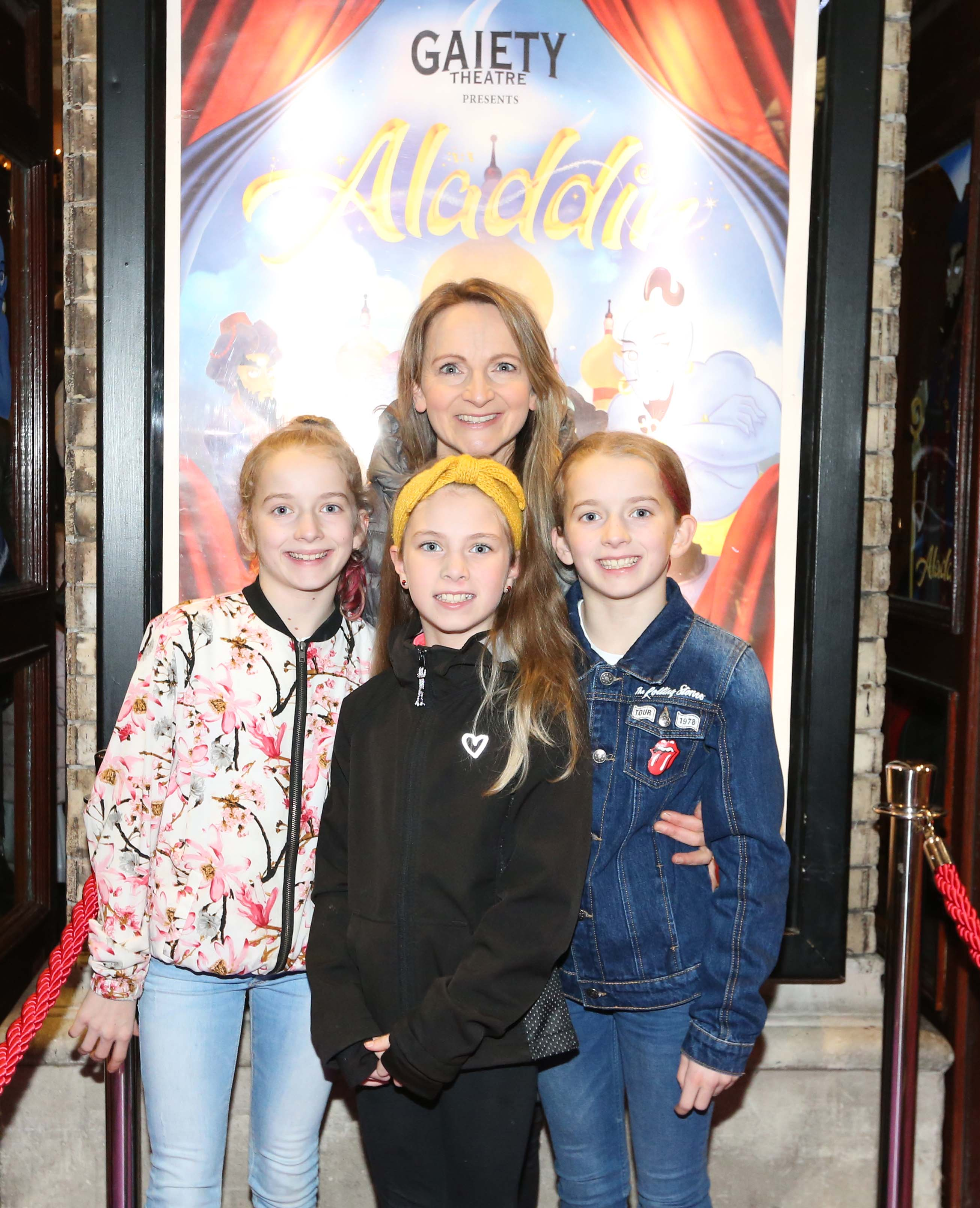 Pictured are (LtoR) Norma Sheahan with Isabelle, Jessica and Jodi at  the official opening of the Gaiety Theatre Christmas Panto, Aladdin. Aladdin opens at the Gaiety Theatre Sunday 24th November. Photo: Sasko Lazarov/Photocall Ireland