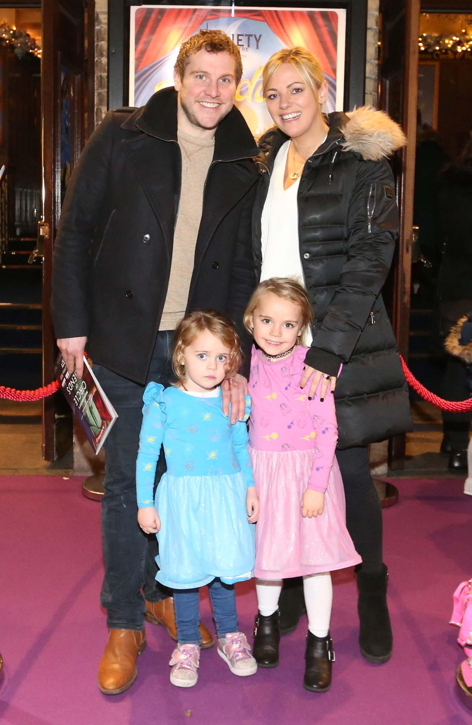 Pictured are (LtoR) Kim Driscoll and Peter Cunningham with their daughters Beth and Katie at the official opening of the Gaiety Theatre Christmas Panto, Aladdin. Aladdin opens at the Gaiety Theatre Sunday 24th November. Photo: Sasko Lazarov/Photocall Ireland