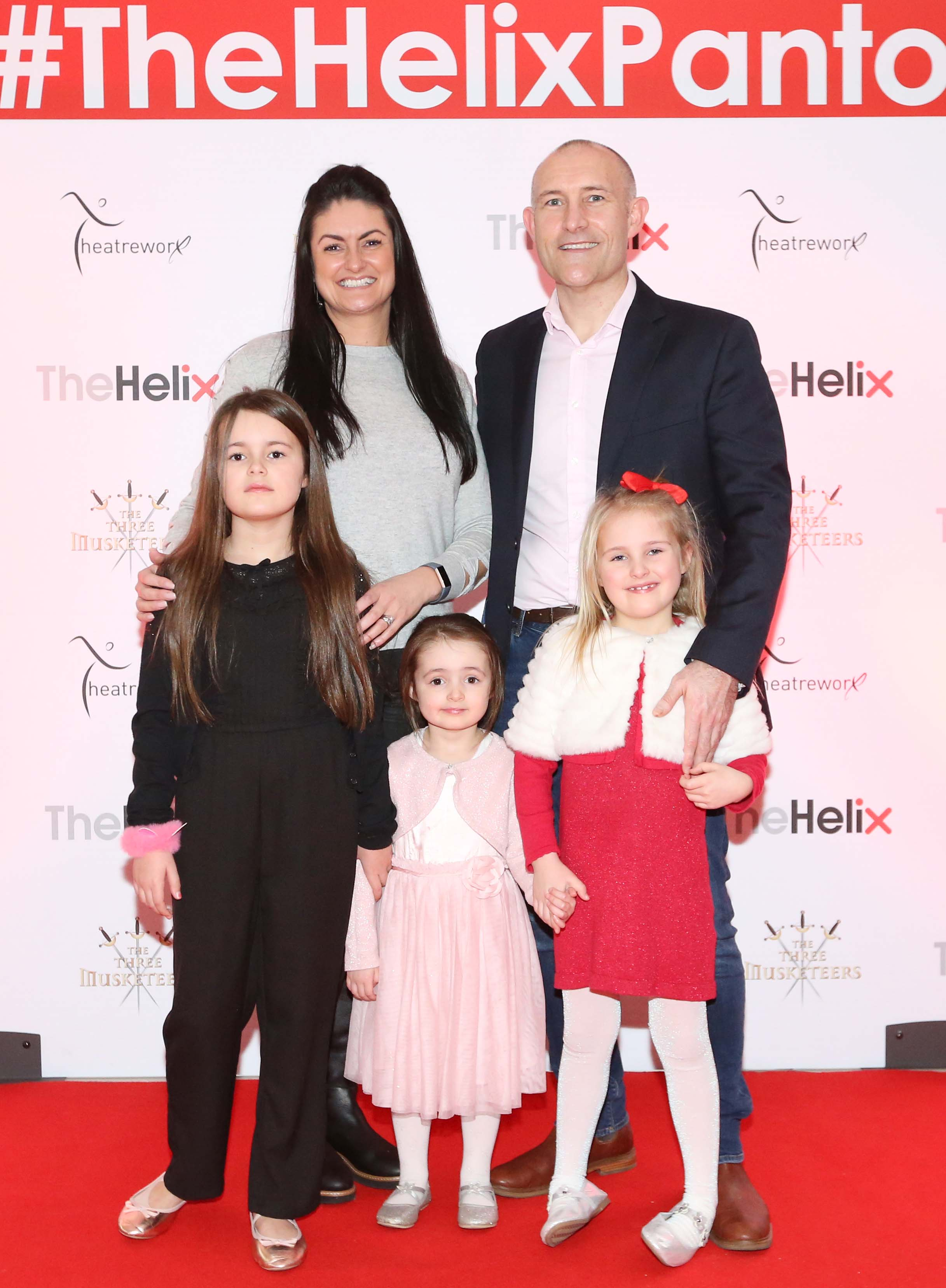 Pictured are (LtoR) Nicola, Matthew, Tia, Taylor and Tobi Tarrant at the opening night of The Three Musketeers at The Helix.  Photo: Sasko Lazarov/Photocall Ireland