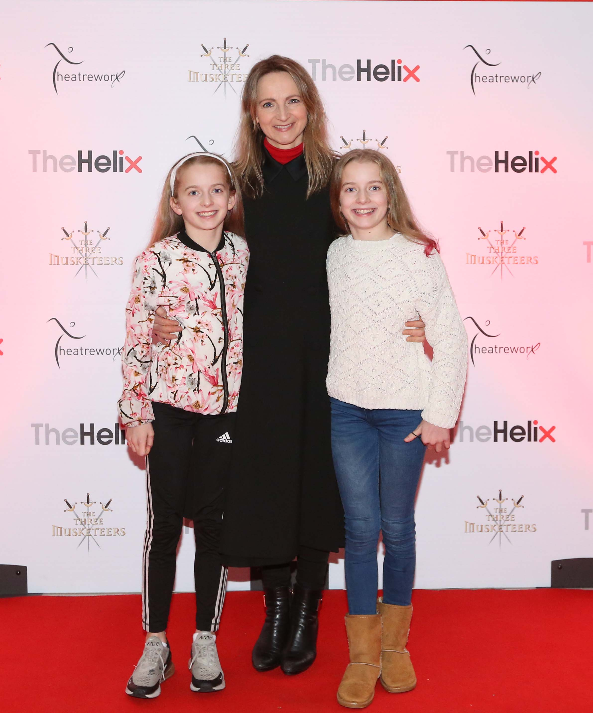 Pictured are (LtoR) Norma Sheahan with daughters Isabelle and Jessica Benwell at the opening night of The Three Musketeers at The Helix.  Photo: Sasko Lazarov/Photocall Ireland
