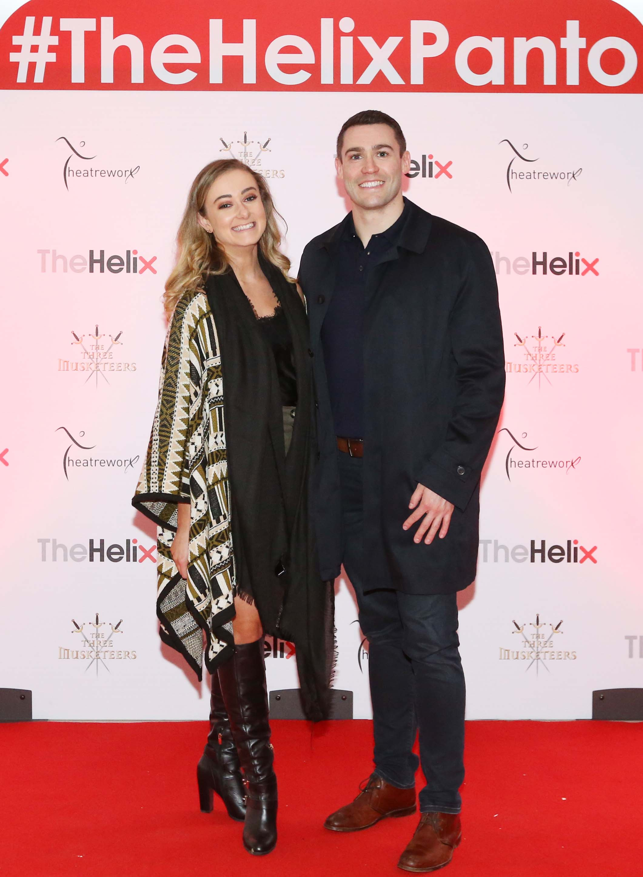 Pictured are (LtoR) Roisin Kennedy and Maurice McAuely at the opening night of The Three Musketeers at The Helix.  Photo: Sasko Lazarov/Photocall Ireland