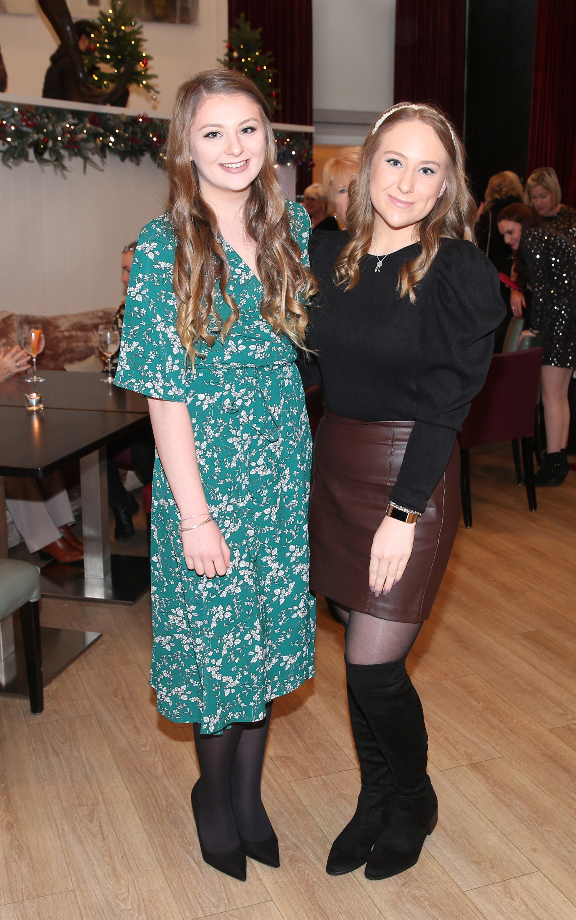 Pictured at the fun filled Christmas afternoon tea at The Morrison Hotel were Jane Murray and Niamh Murray. Photograph: Leon Farrell / Photocall Ireland