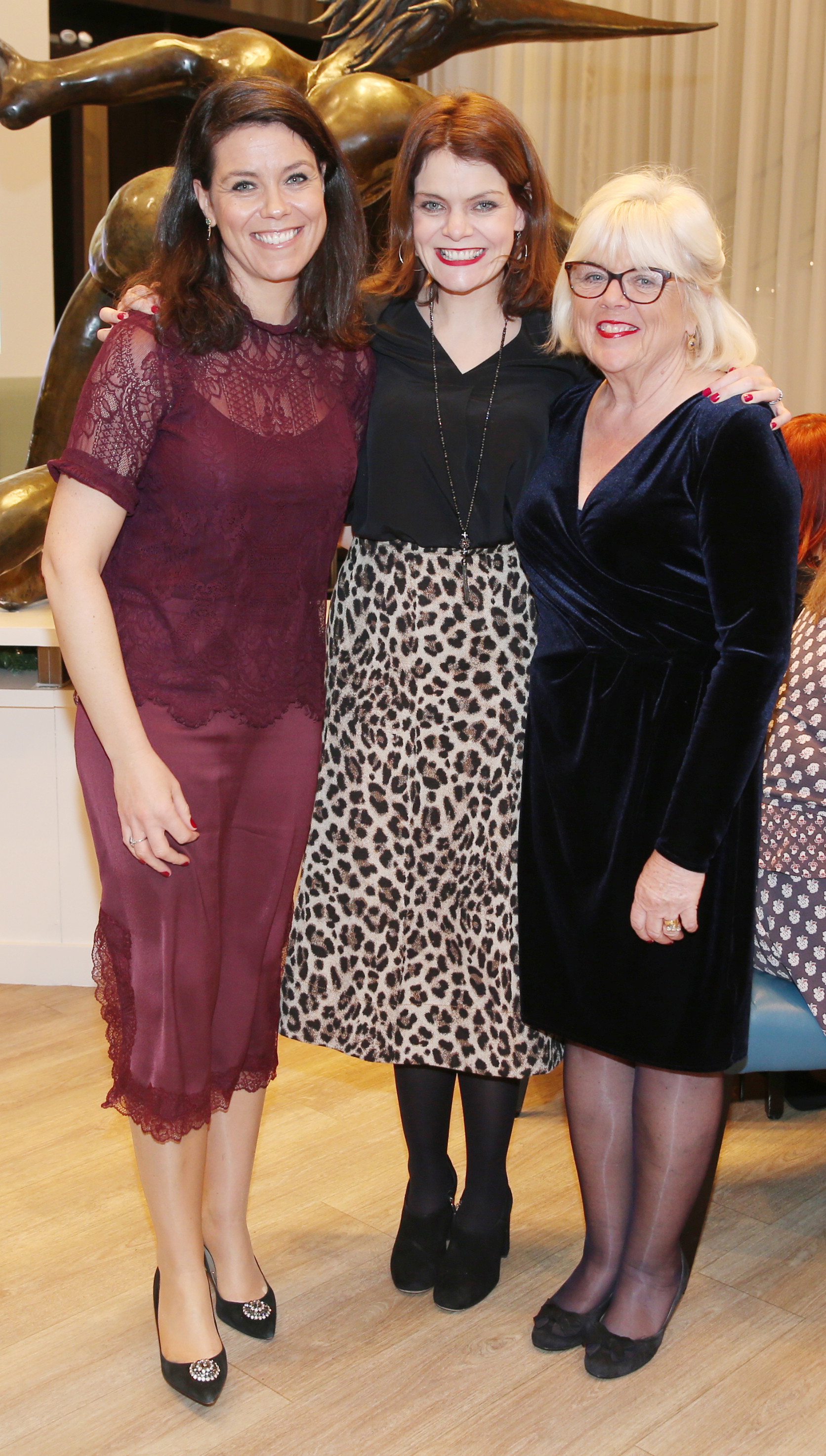 Pictured at the fun filled Christmas afternoon tea at The Morrison Hotel were Aoife Newton, Aine Salmon, Helena Salmon. Photograph: Leon Farrell / Photocall Ireland
