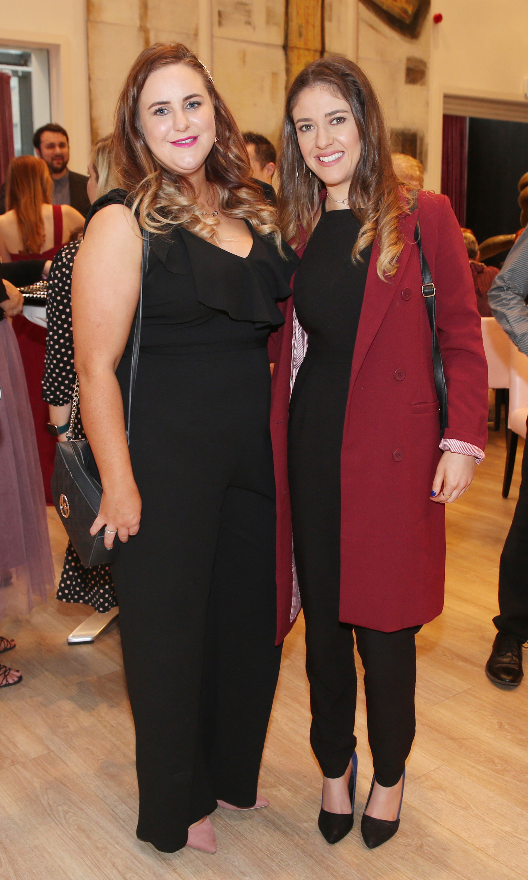 Pictured at the fun filled Christmas afternoon tea at The Morrison Hotel were Ashley Tracy and Julie Nelson. Photograph: Leon Farrell / Photocall Ireland