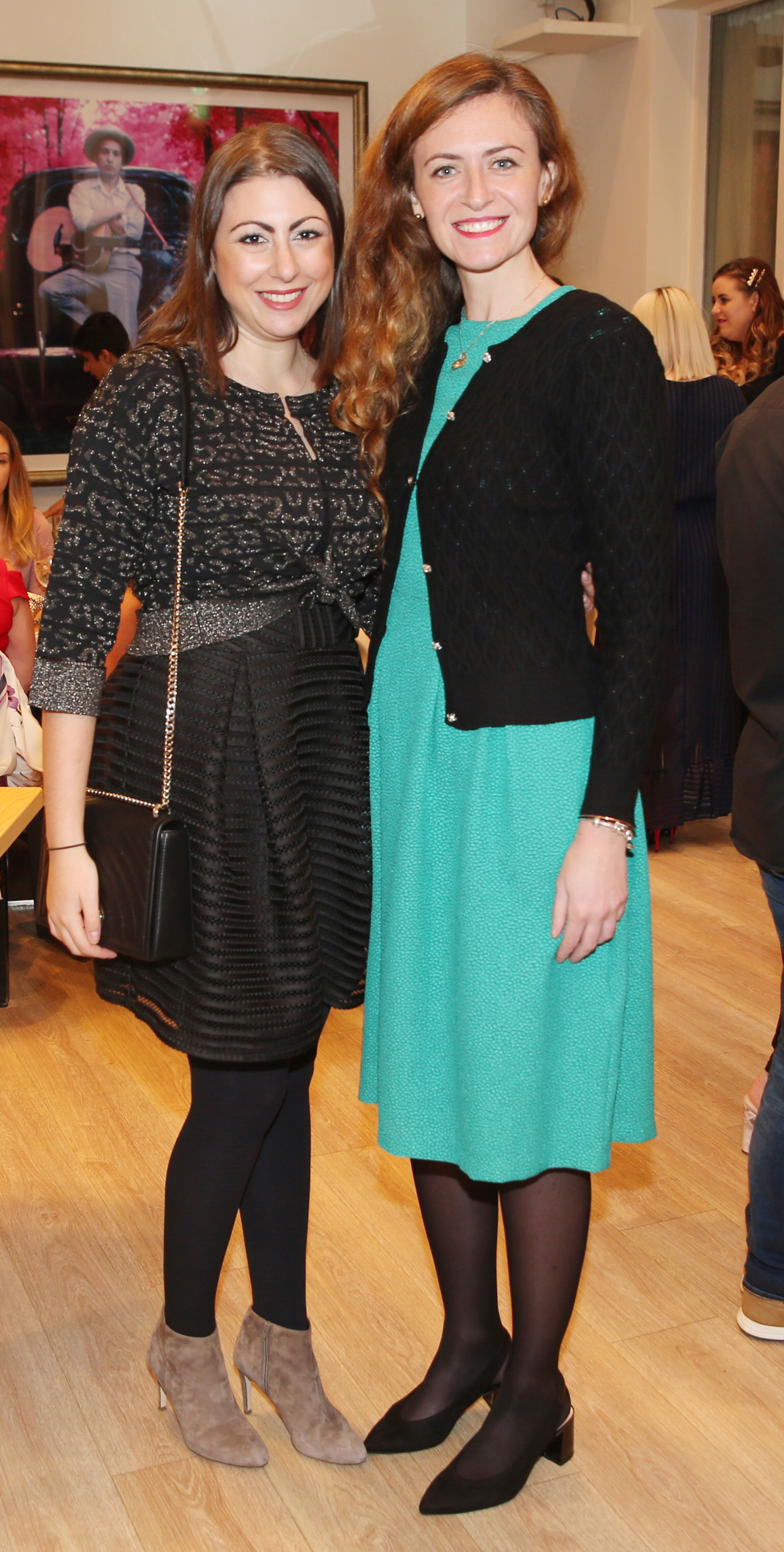 Pictured at the fun filled Christmas afternoon tea at The Morrison Hotel were Ilaria Piacenza and Julia Prinz. Photograph: Leon Farrell / Photocall Ireland