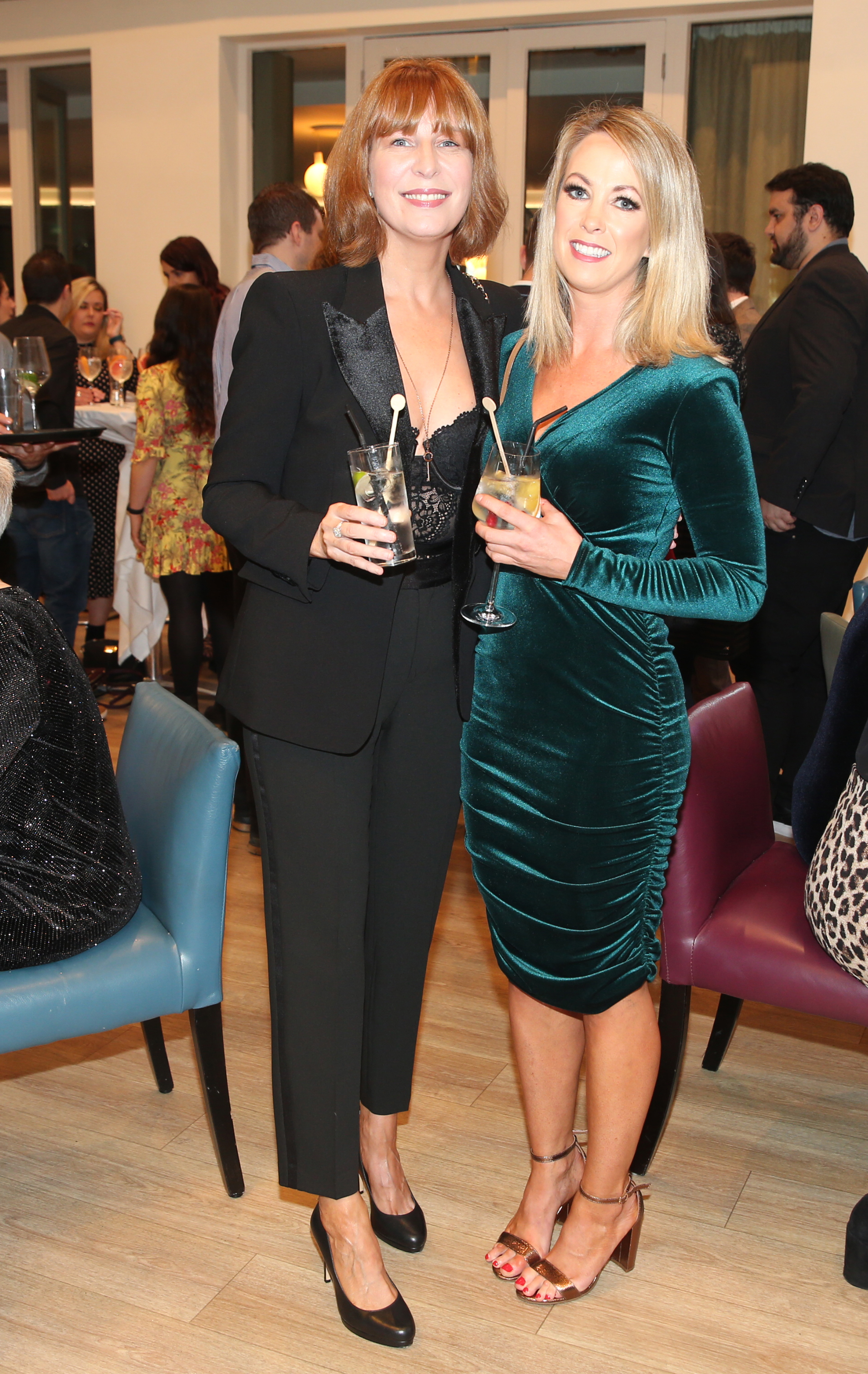 Pictured at the fun filled Christmas afternoon tea at The Morrison Hotel were Kathryn Burns and Maria O Neill. Photograph: Leon Farrell / Photocall Ireland