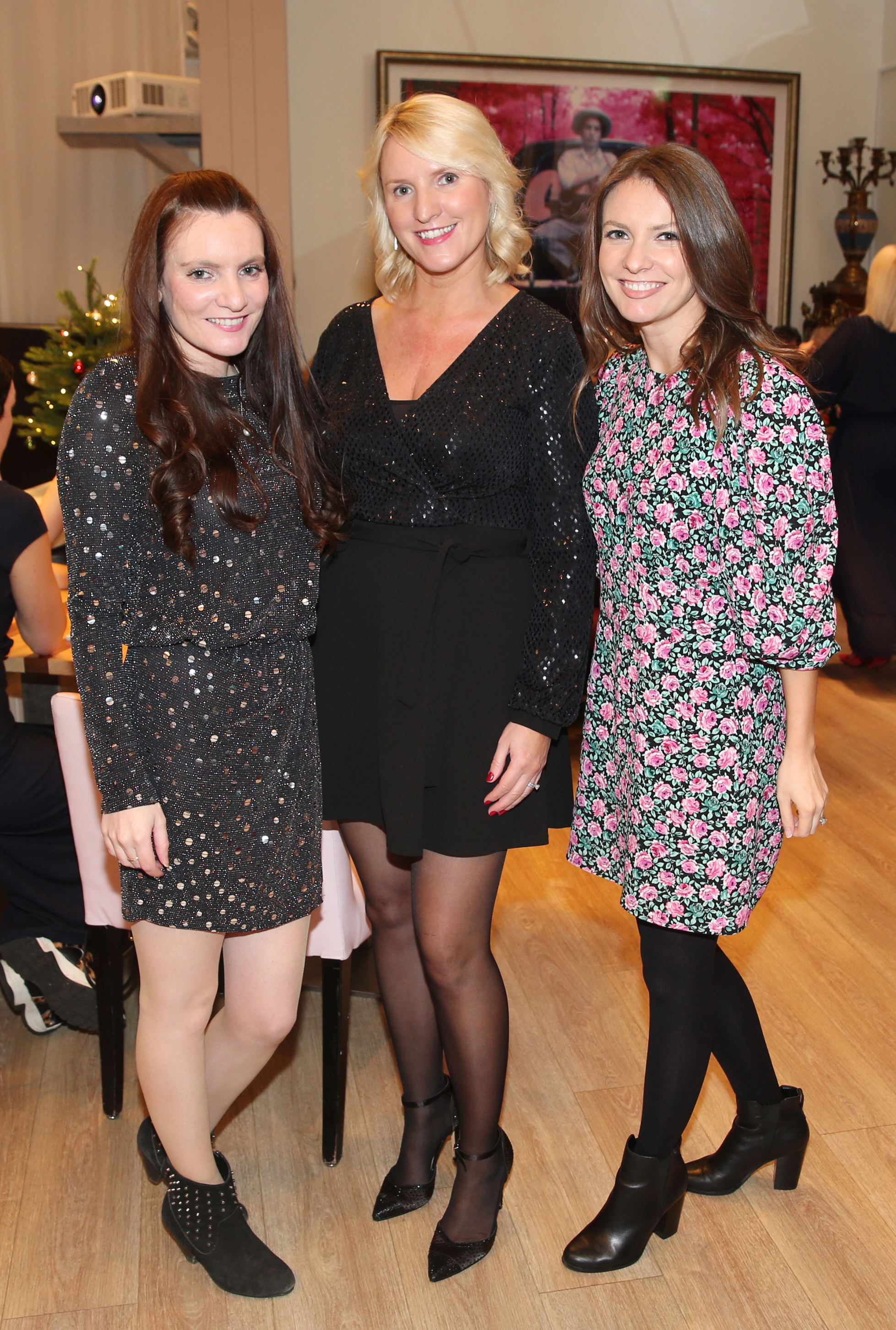 Pictured at the fun filled Christmas afternoon tea at The Morrison Hotel were Sórcha Burns, Fiona Burns and Róisín Burns. Photograph: Leon Farrell / Photocall Ireland