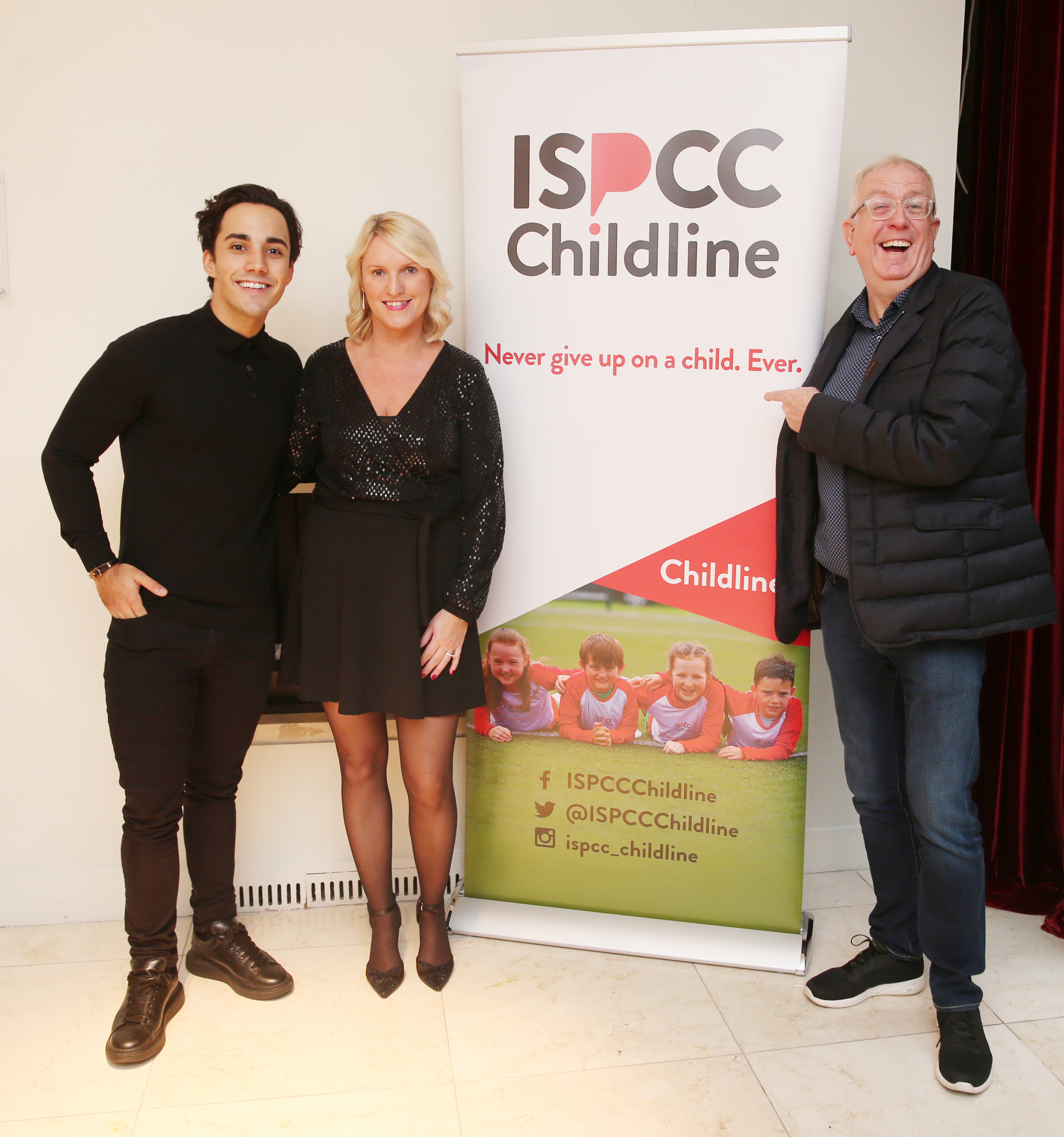 Pictured at the fun filled Christmas afternoon tea at The Morrison Hotel were Jake Carter,  Fiona Burns and Rory Cowan. Photograph: Leon Farrell / Photocall Ireland