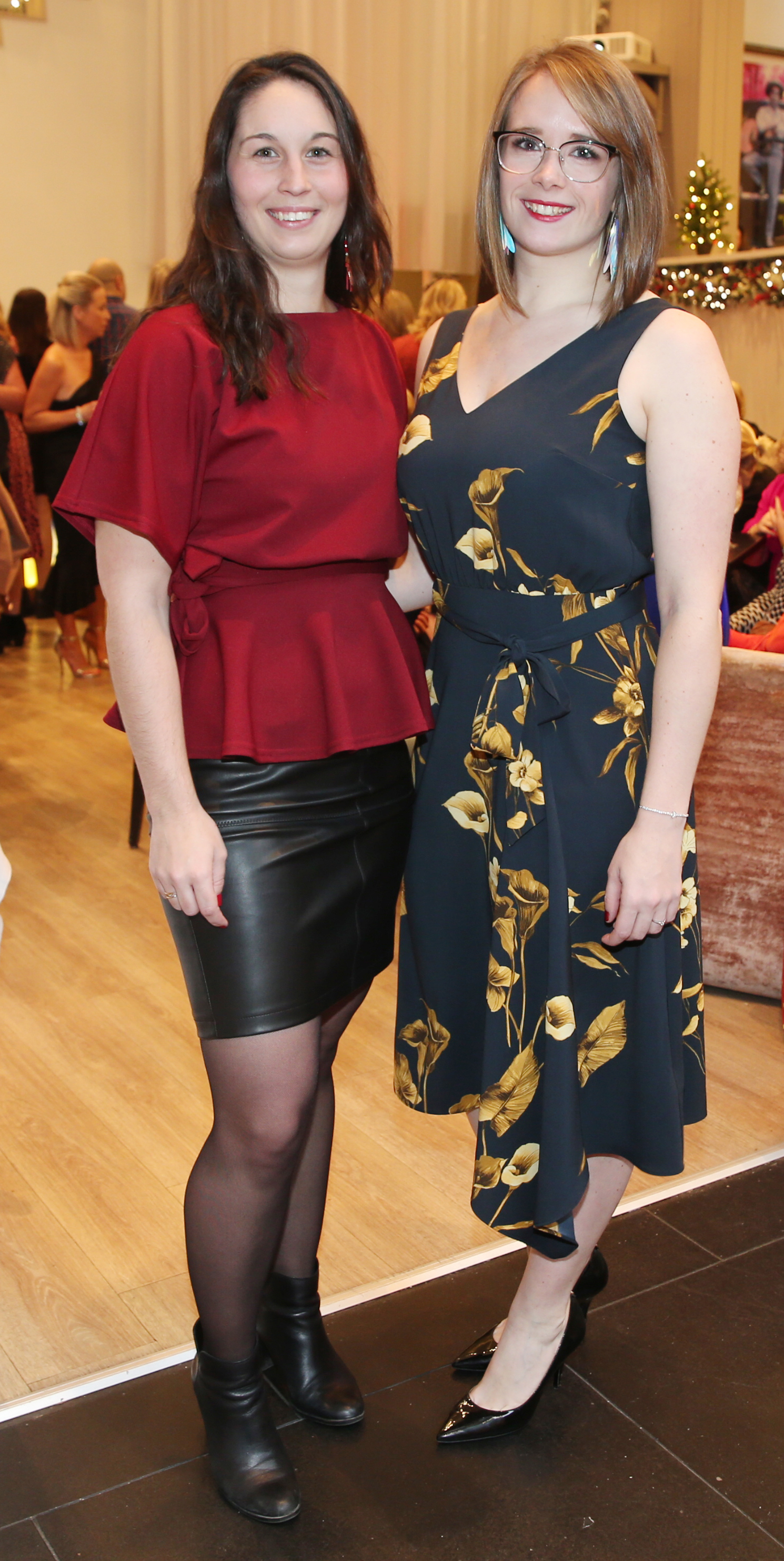 Pictured at the fun filled Christmas afternoon tea at The Morrison Hotel were Aurelie Stach & Sandra Vaillard. Photograph: Leon Farrell / Photocall Ireland