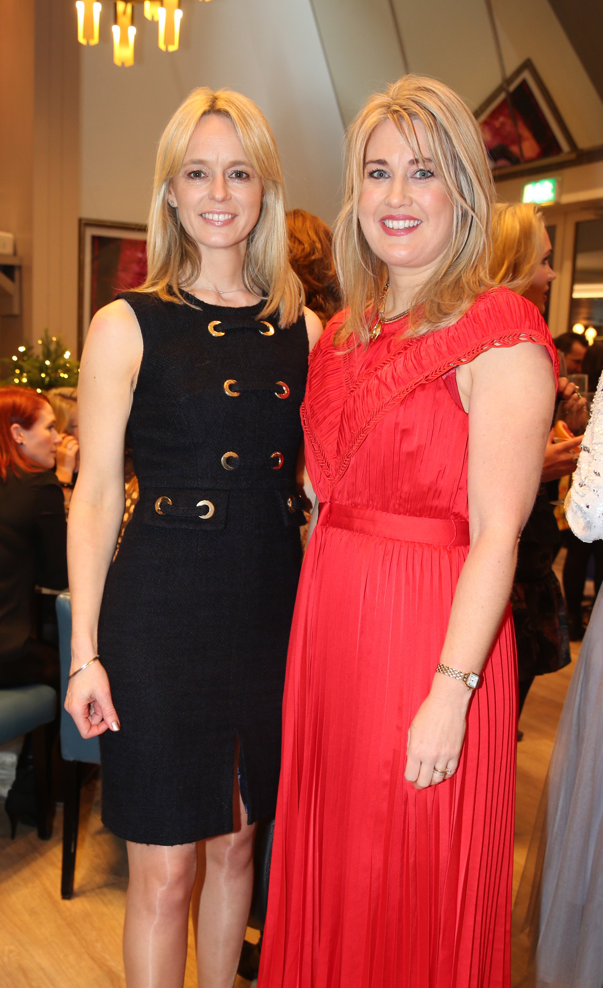 Pictured at the fun filled Christmas afternoon tea at The Morrison Hotel were Fiona Sheridan and Marloes Jackson. Photograph: Leon Farrell / Photocall Ireland