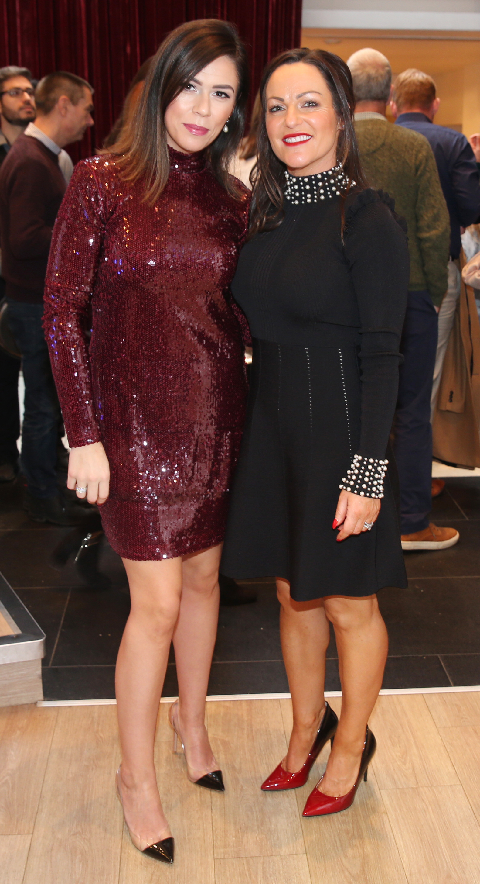 Pictured at the fun filled Christmas afternoon tea at The Morrison Hotel were Anita Courtenay and Nadine Keddy. Photograph: Leon Farrell / Photocall Ireland