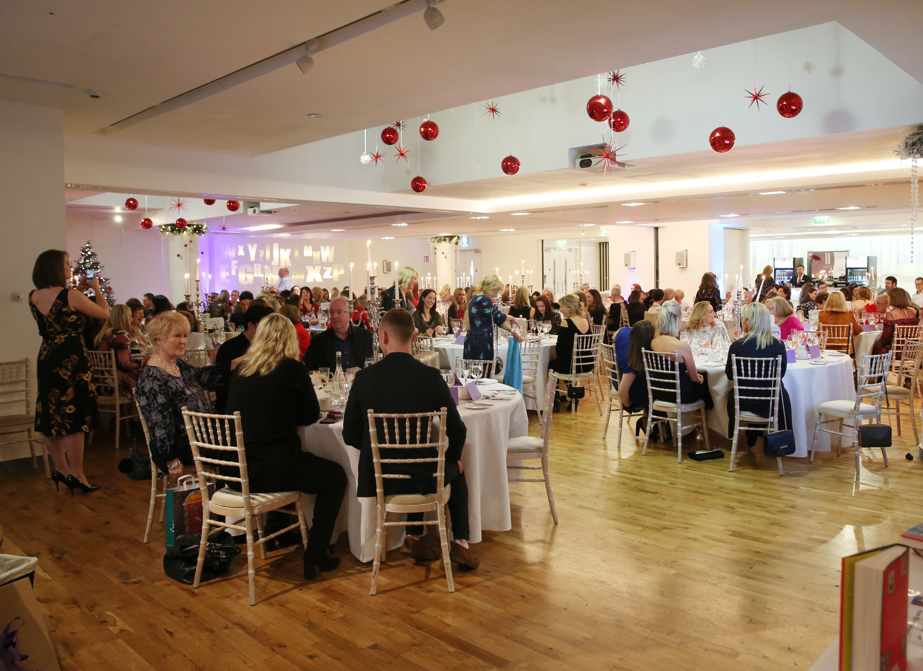 Pictured is the crowd at the fun filled Christmas afternoon tea at The Morrison Hotel. Photograph: Leon Farrell / Photocall Ireland