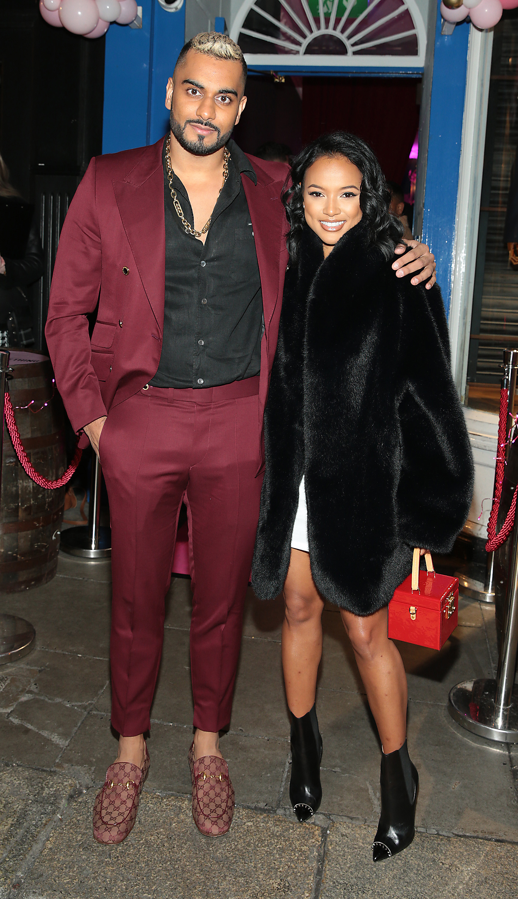Umar Kamani and Karrueche Tran in Dublin for the PrettyLittleThing launch party for Molly Mae Hague's new partywear Christmas Edit in Twenty Two, Dublin.  Picture: Brian McEvoy