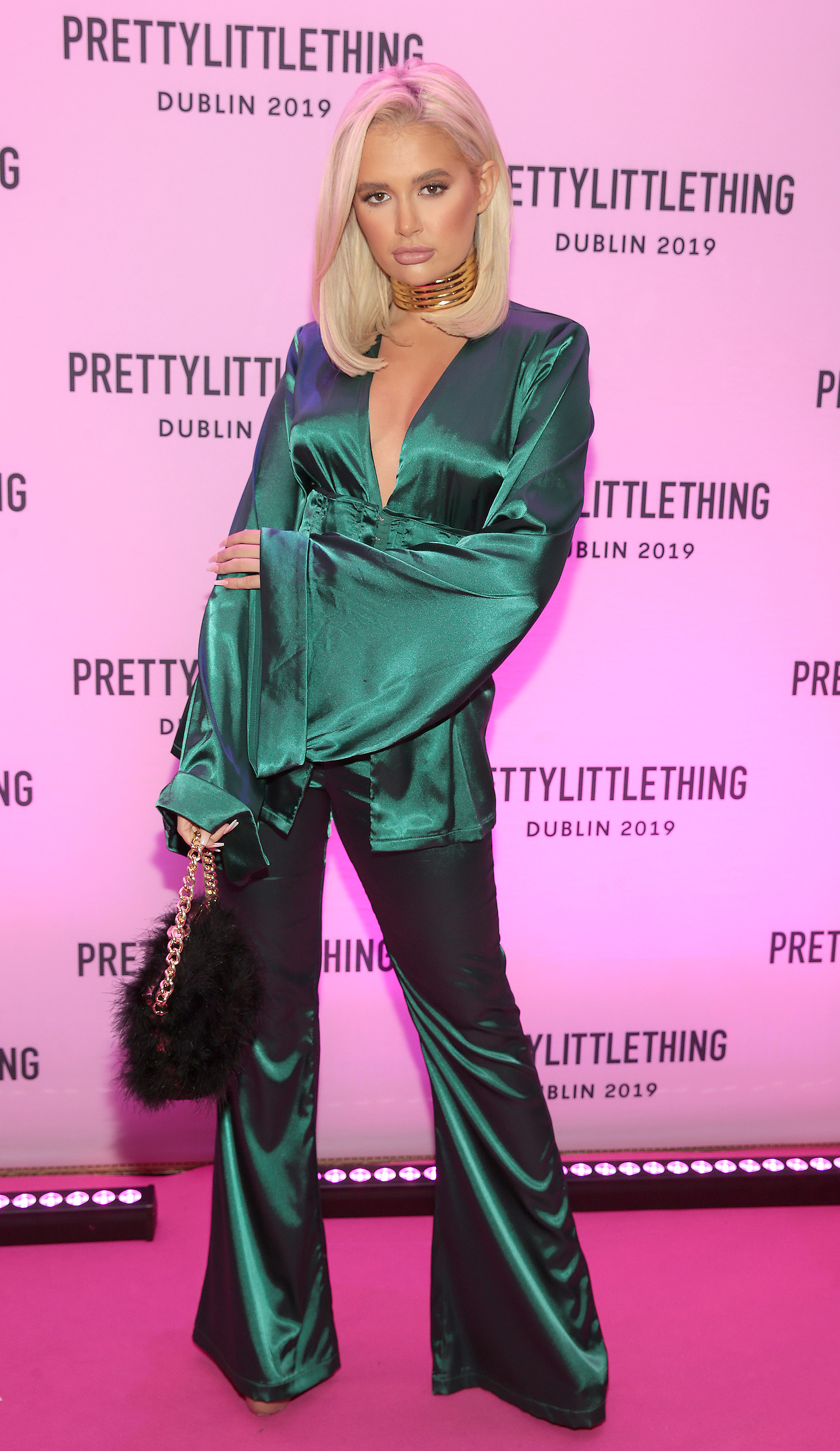 Molly Mae Hague in Dublin for the PrettyLittleThing launch party for her new partywear Christmas Edit. Picture: Brian McEvoy