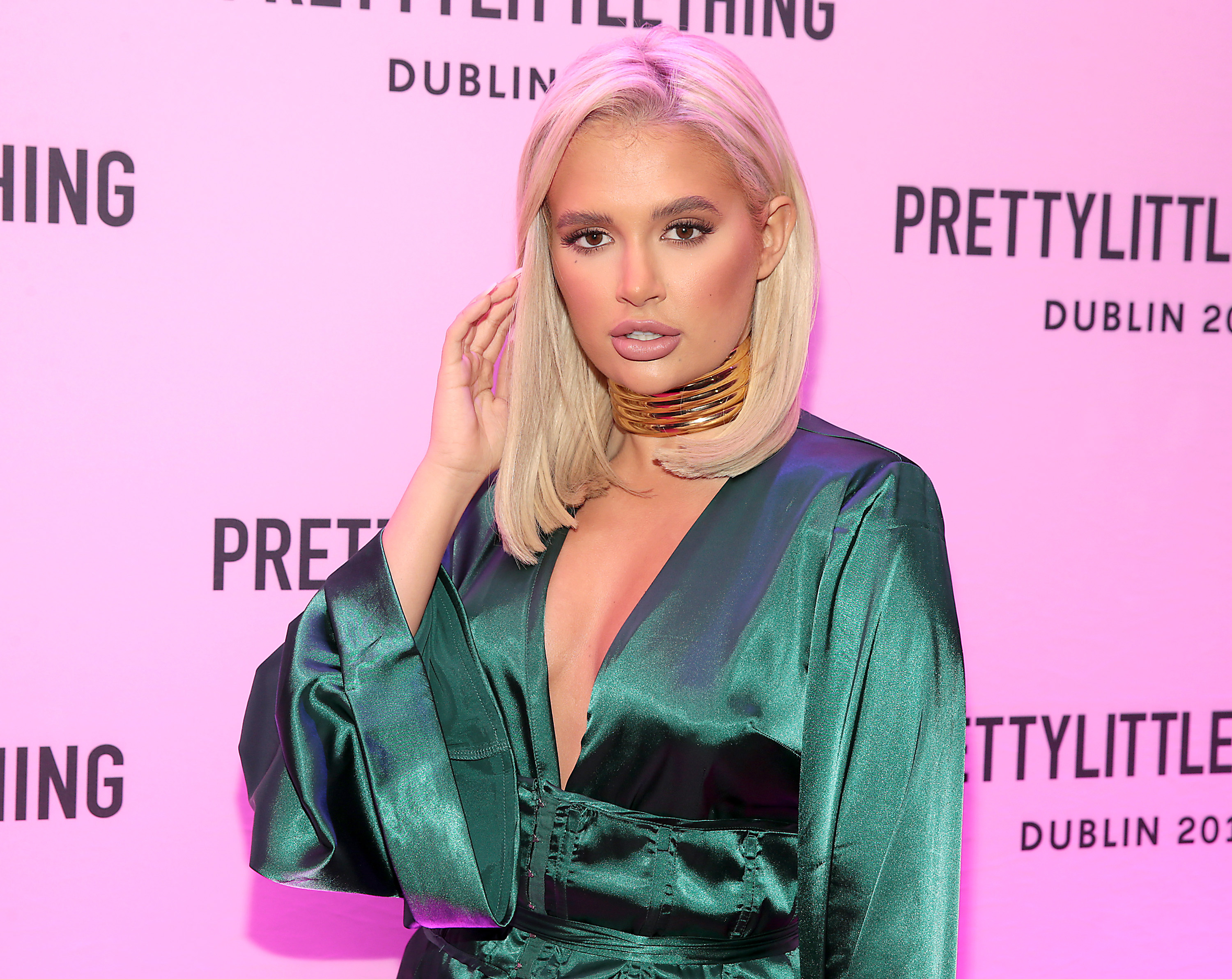 Molly Mae Hague in Dublin for the PrettyLittleThing launch party for her new Christmas Edit.  Picture: Brian McEvoy