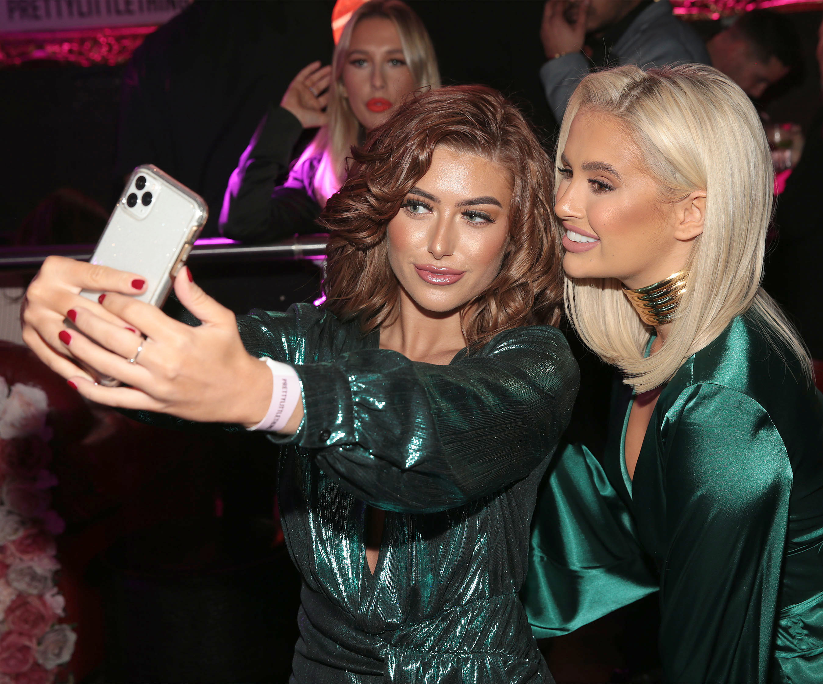 Chloe Ormond and Molly Mae Hague in Dublin for the PrettyLittleThing launch party for Molly Mae Hague's new partywear Christmas Edit. Picture: Brian McEvoy