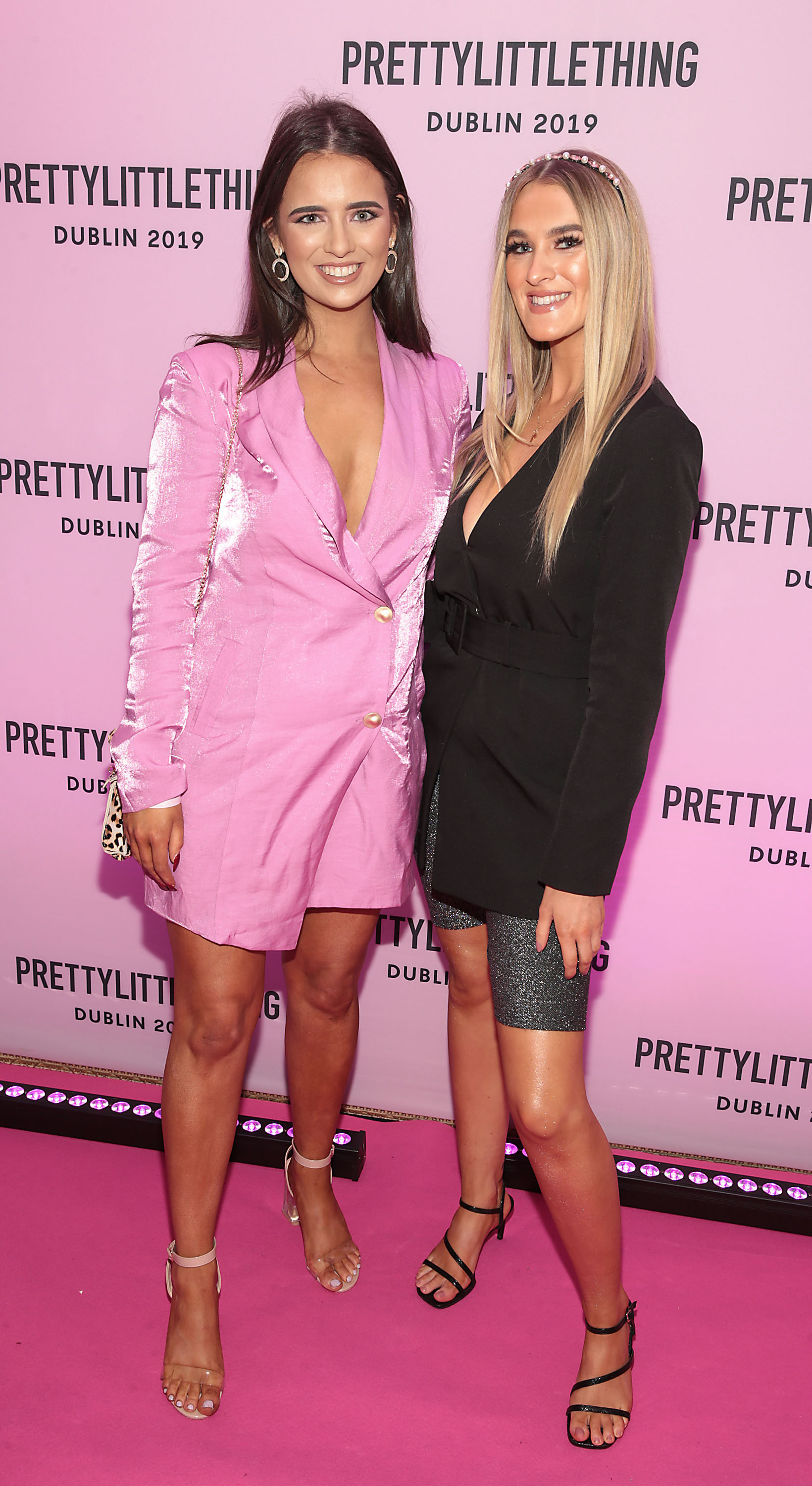 Aileen Gallagher and Ciara Chapman at the PrettyLittleThing launch party for Molly Mae Hague's new Christmas Edit in Twenty Two, Dublin.  Picture: Brian McEvoy