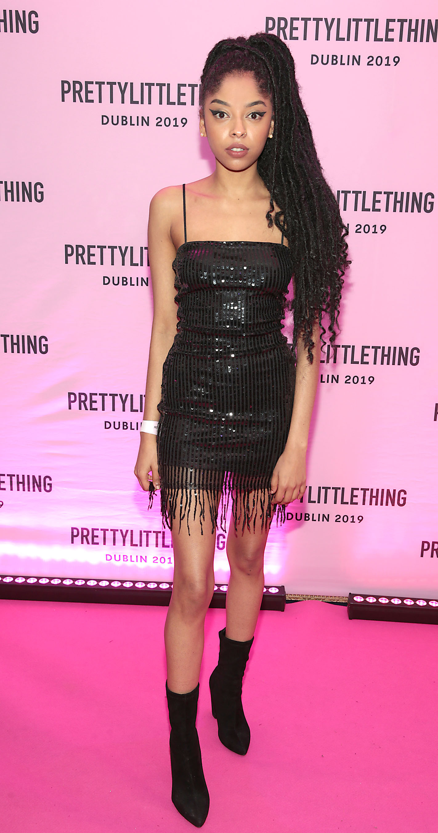 Mona Lxsa at the PrettyLittleThing launch party for Molly Mae Hague's new Christmas Edit in Twenty Two, Dublin.  Picture: Brian McEvoy