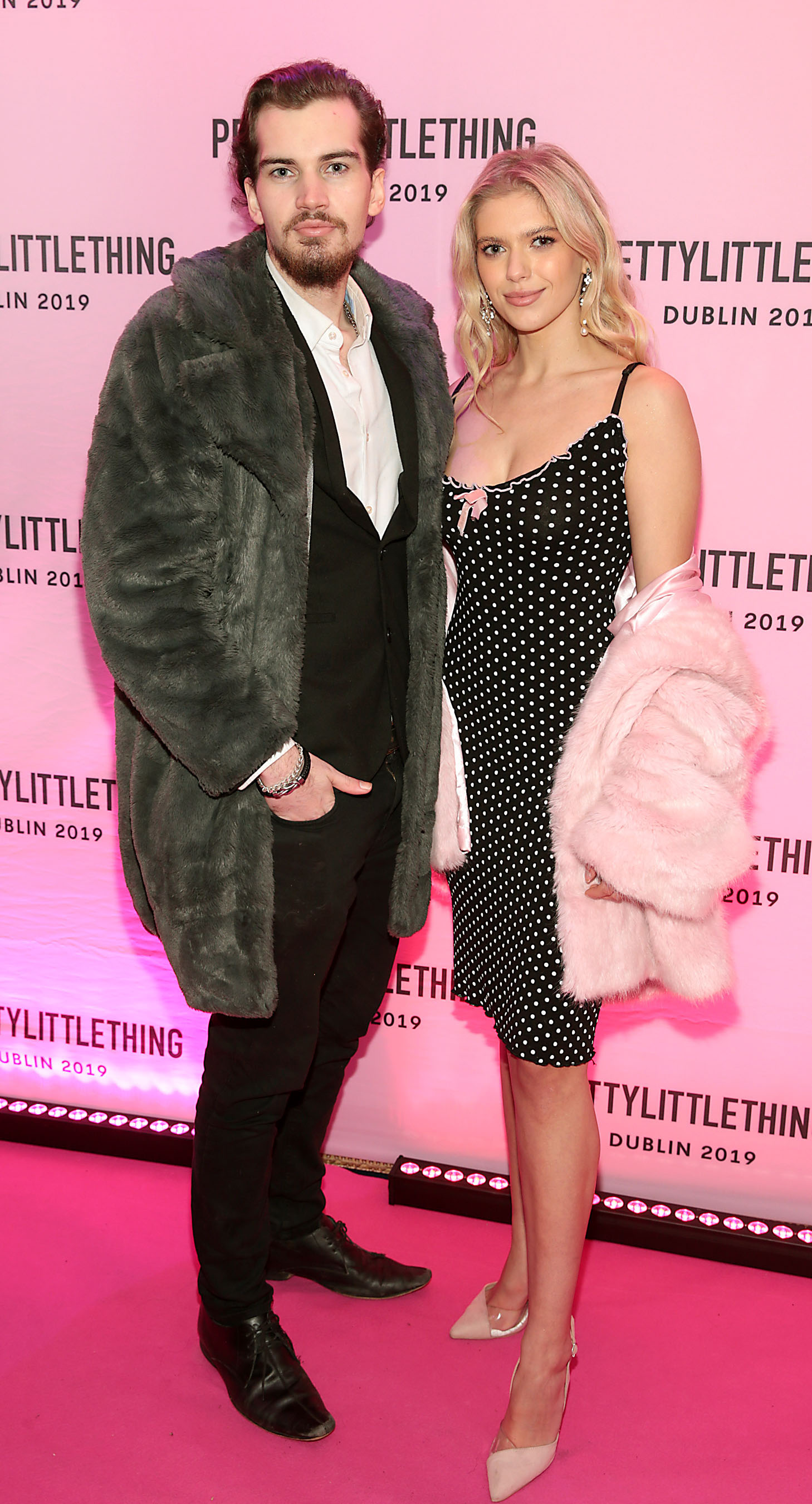 David Wight and Emily jade Elliott at the PrettyLittleThing launch party for Molly Mae Hague's new Christmas Edit in Twenty Two, Dublin.  Picture: Brian McEvoy