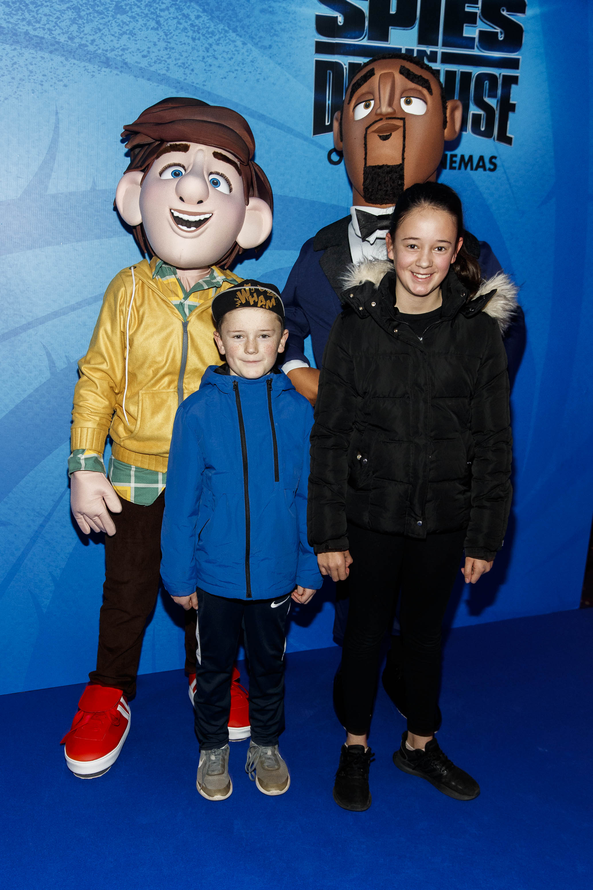 Jake Burns (8) and Holly Burns (11) pictured at the special preview screening of SPIES IN DISGUISE in Cineworld.  Picture: Andres Poveda