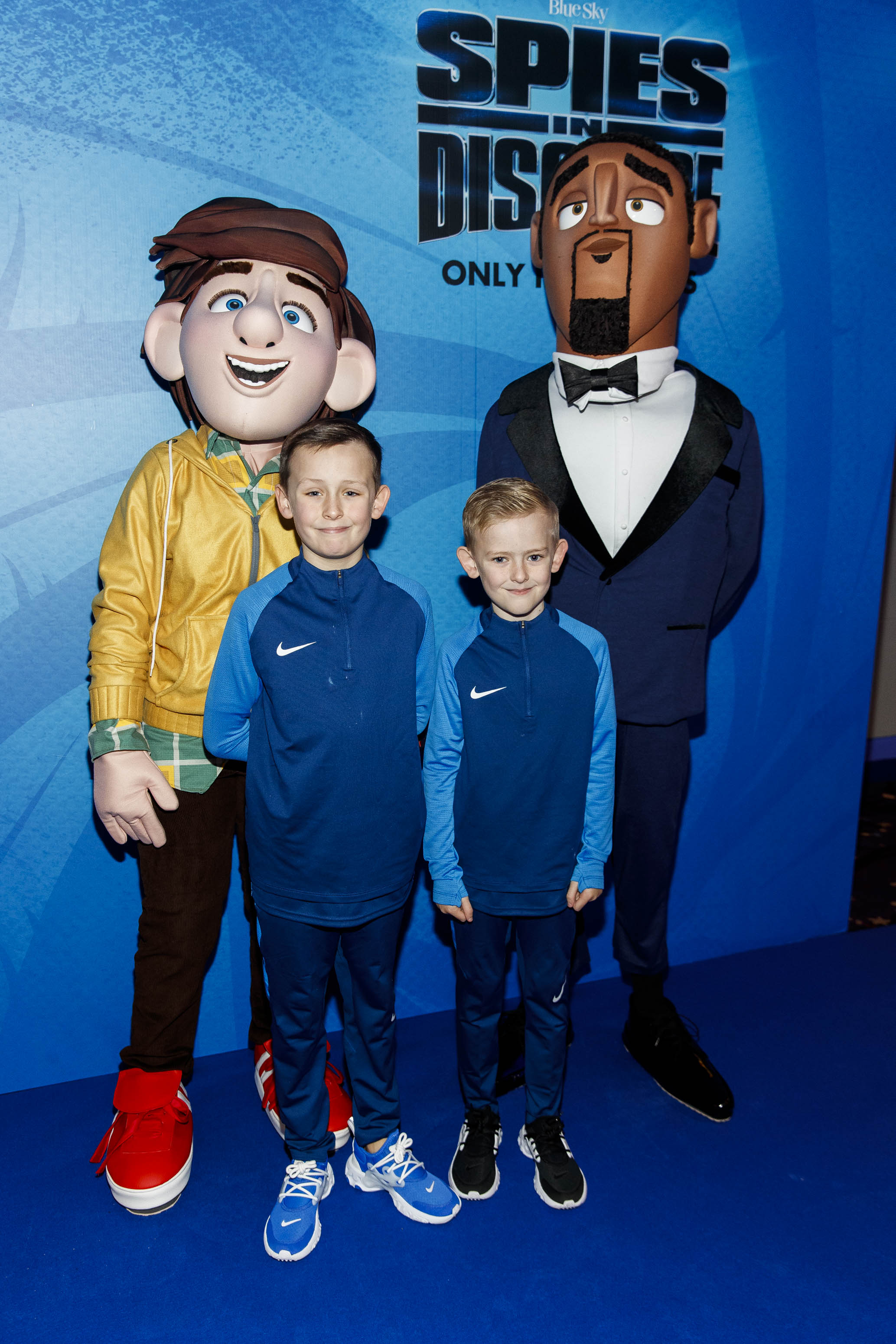 Killian (9) and Aarron O'Reilly (7) pictured at the special preview screening of SPIES IN DISGUISE in Cineworld.  Picture: Andres Poveda