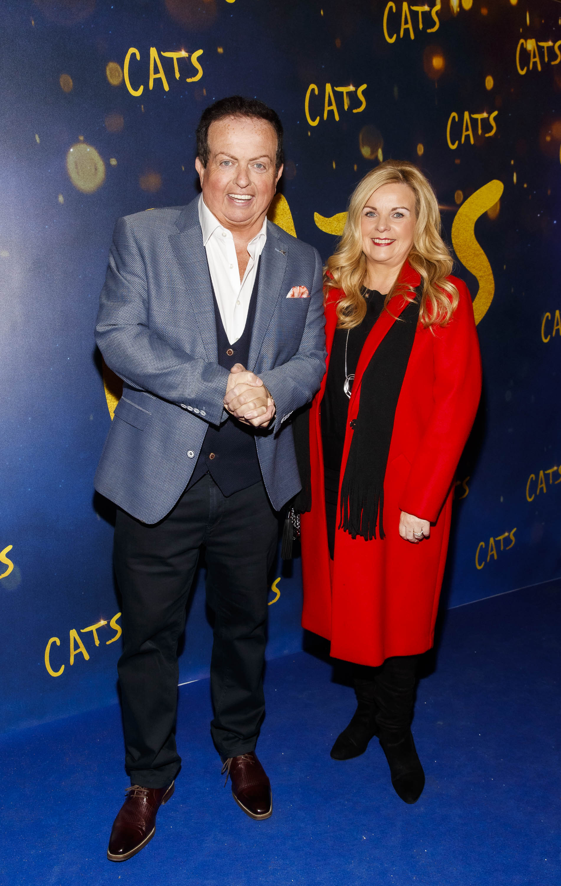 Marty Morrissey and Liz Kidney pictured at the Irish premiere screening of 'Cats' at The Stella Theatre, Rathmines. Picture: Andres Poveda