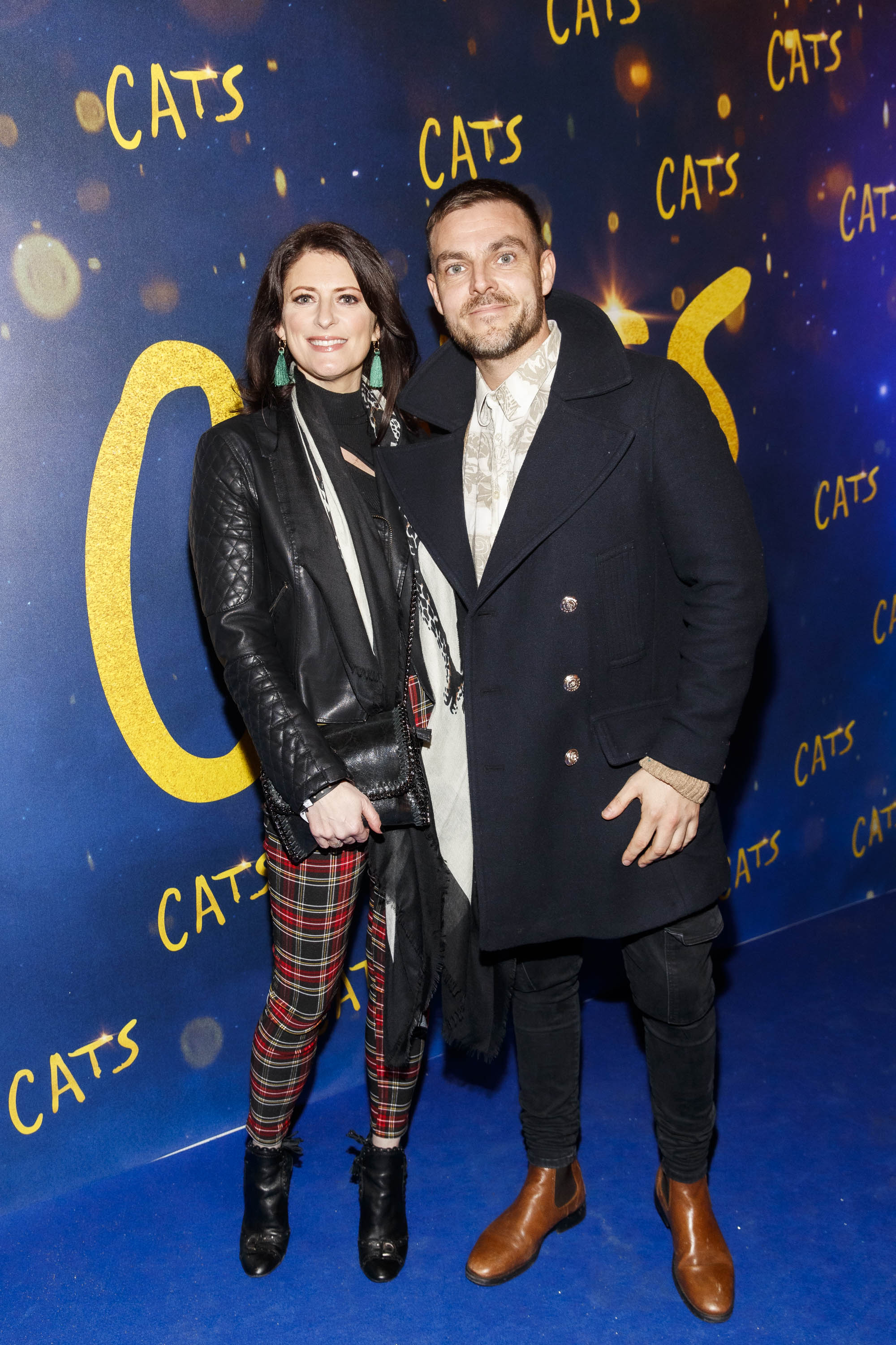 Sinead O Carroll and dance partner Ryan McShane pictured at the Irish premiere screening of 'Cats' at The Stella Theatre, Rathmines. Picture: Andres Poveda