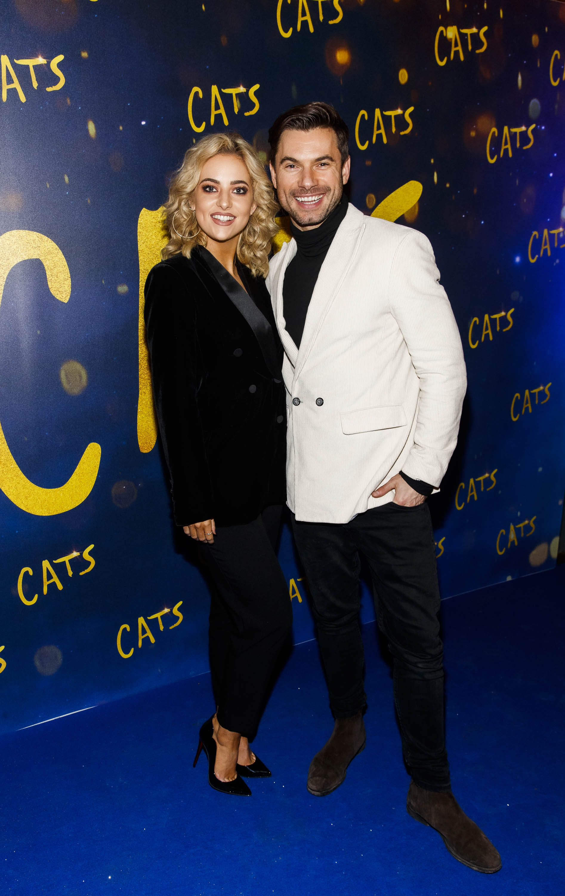 Dancing with the Stars Laura Nolan with dance partner Robert Rowinski pictured at the Irish premiere screening of 'Cats' at The Stella Theatre, Rathmines. Picture: Andres Poveda