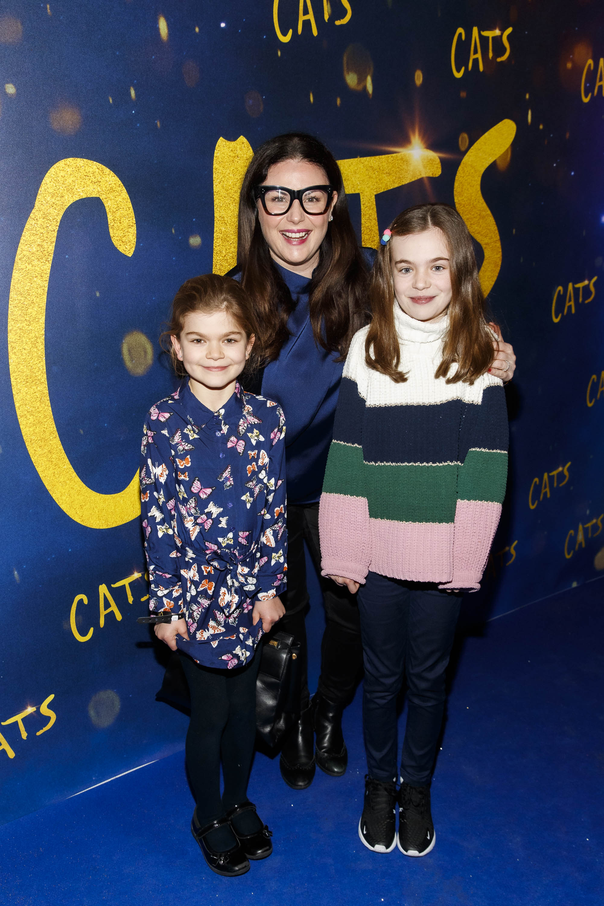Lisa Cannon with Rose (8) and Holly Maguire (10) pictured at the Irish premiere screening of 'Cats' at The Stella Theatre, Rathmines. Picture: Andres Poveda