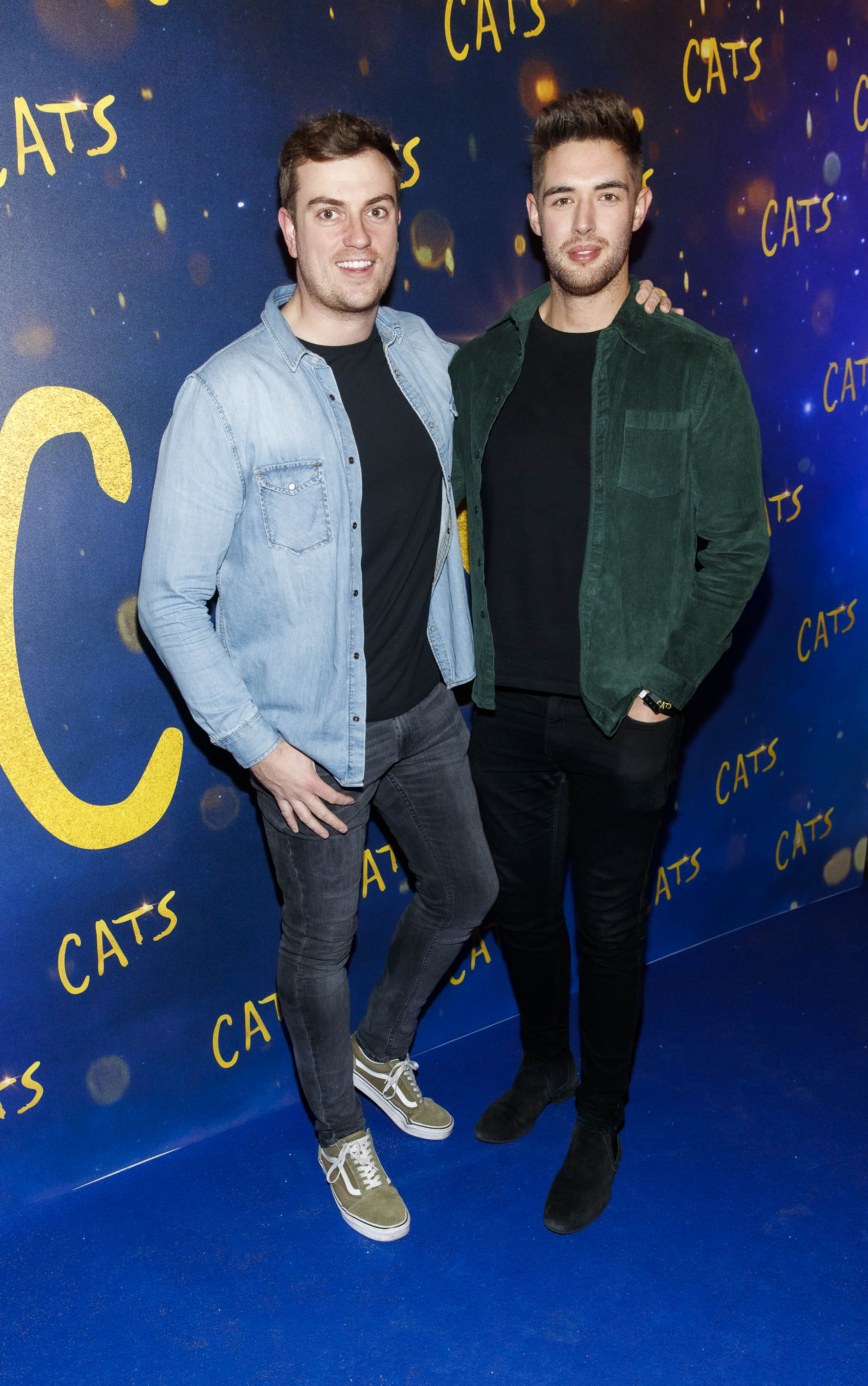Alan Cawley and Peter Lynch pictured at the Irish premiere screening of 'Cats' at The Stella Theatre, Rathmines. Picture: Andres Poveda