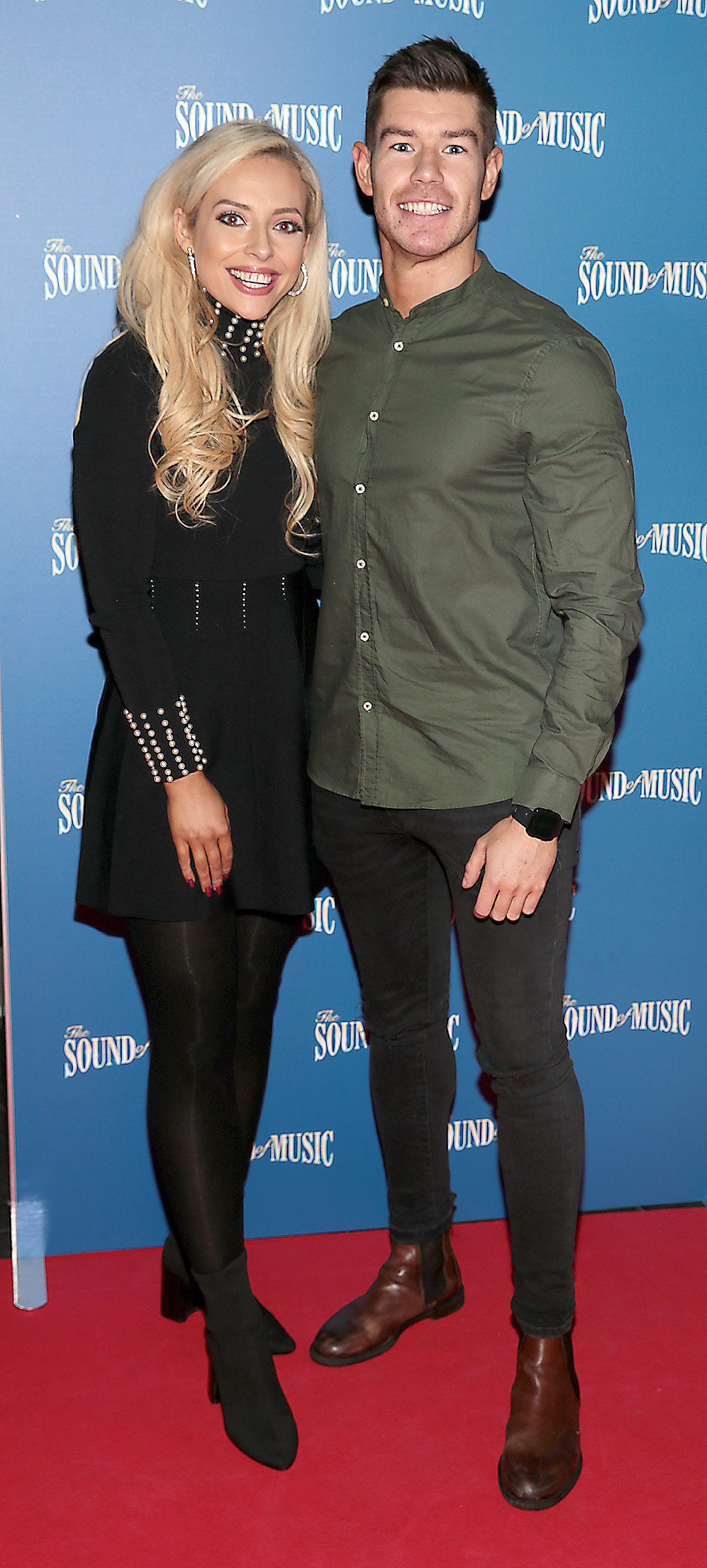 Mikaela O Neill and Ryan Andrews  pictured at the opening night of The Sound of Music at the Bord Gais Energy Theatre, Dublin. Pic Brian McEvoy