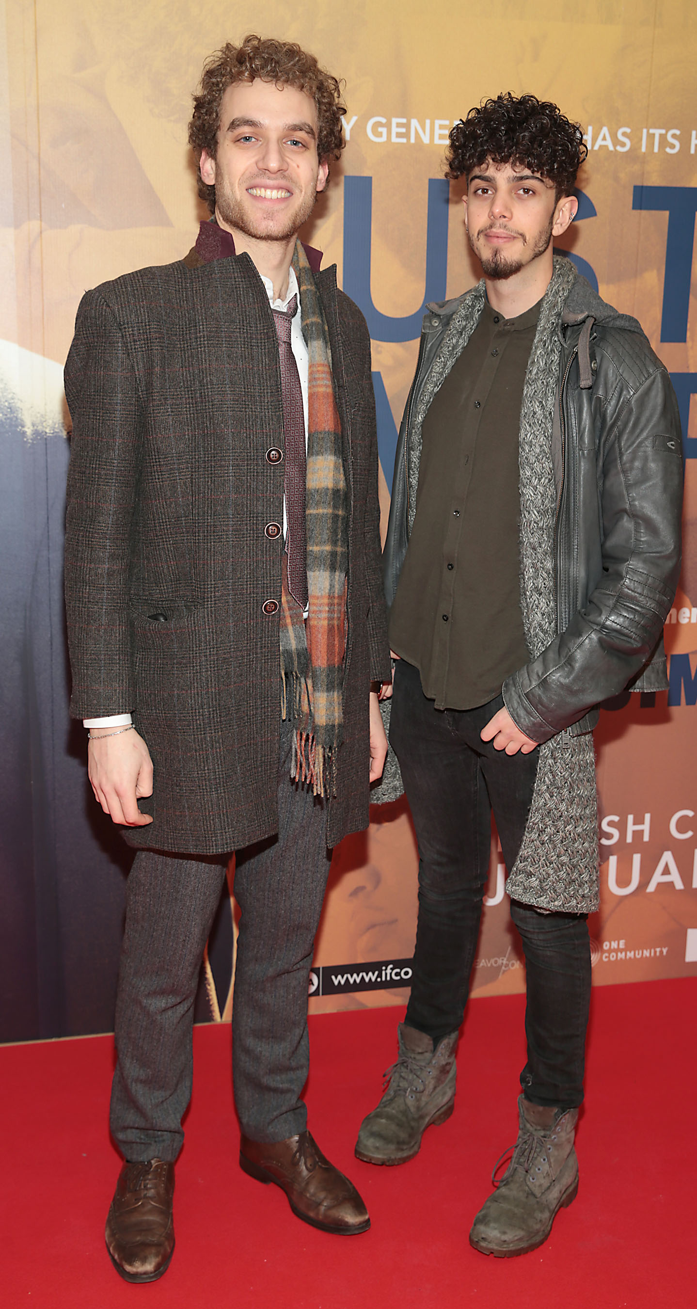 Abdullah Al Bayyan and Dennis Shaw at the special preview screening of Just Mercy at the Lighthouse Cinema, Dublin. Pic Brian McEvoy