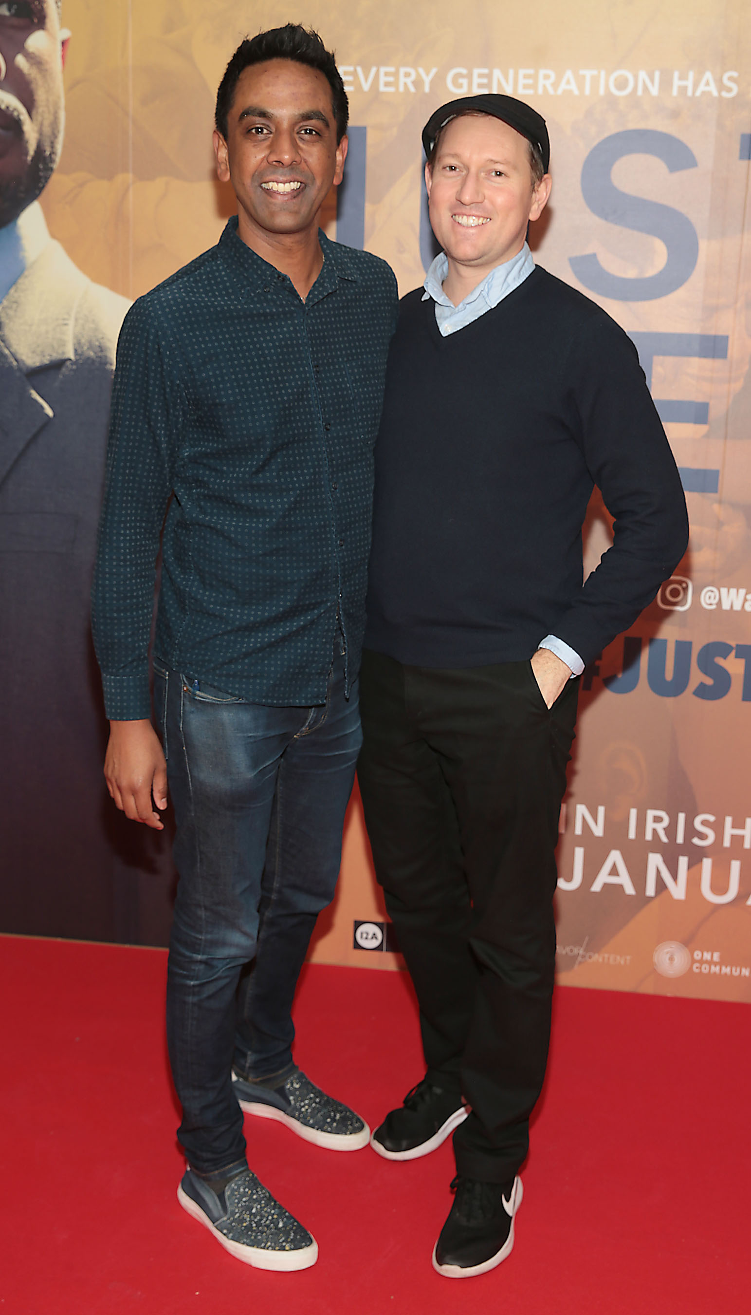 Clint Drieberg and David Mitchell at the special preview screening of Just Mercy at the Lighthouse Cinema, Dublin. Pic Brian McEvoy