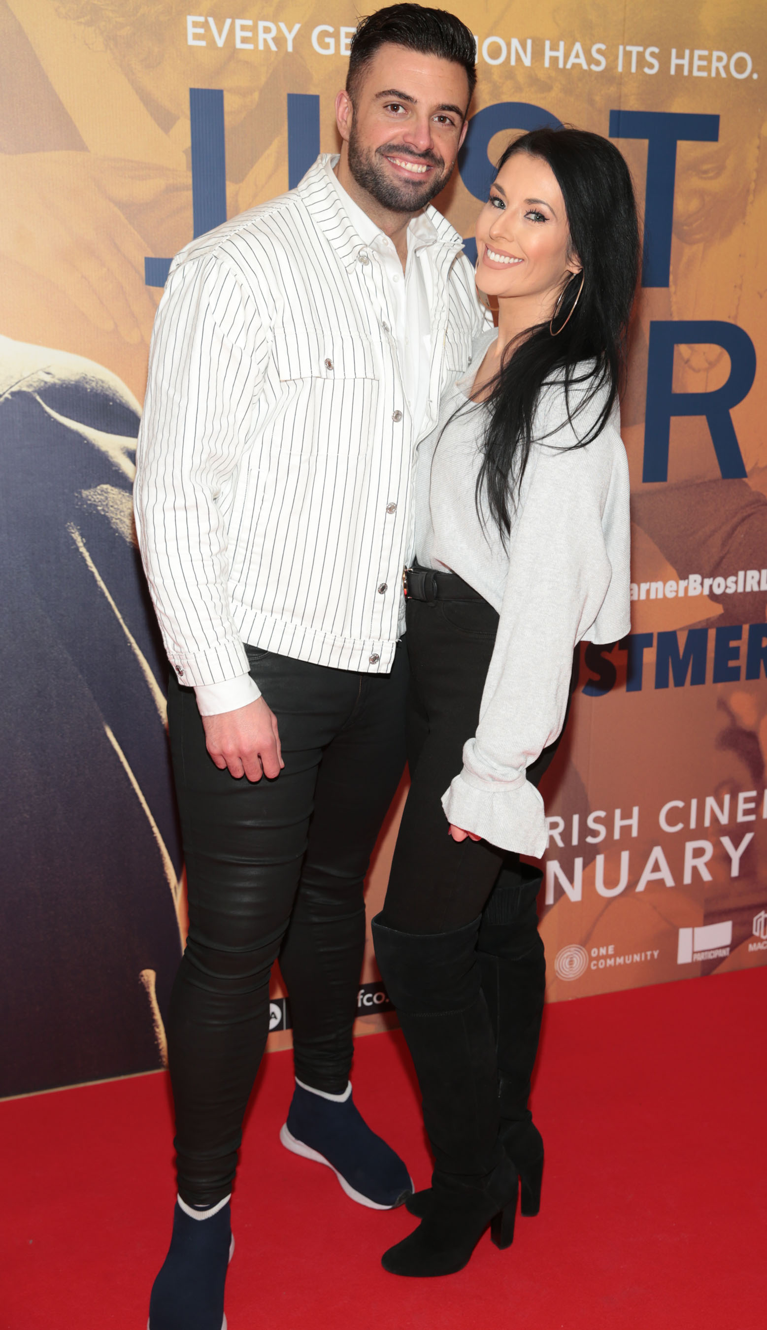 Karl Bowe and Lynn Mulvey at the special preview screening of Just Mercy at the Lighthouse Cinema, Dublin. Pic Brian McEvoy