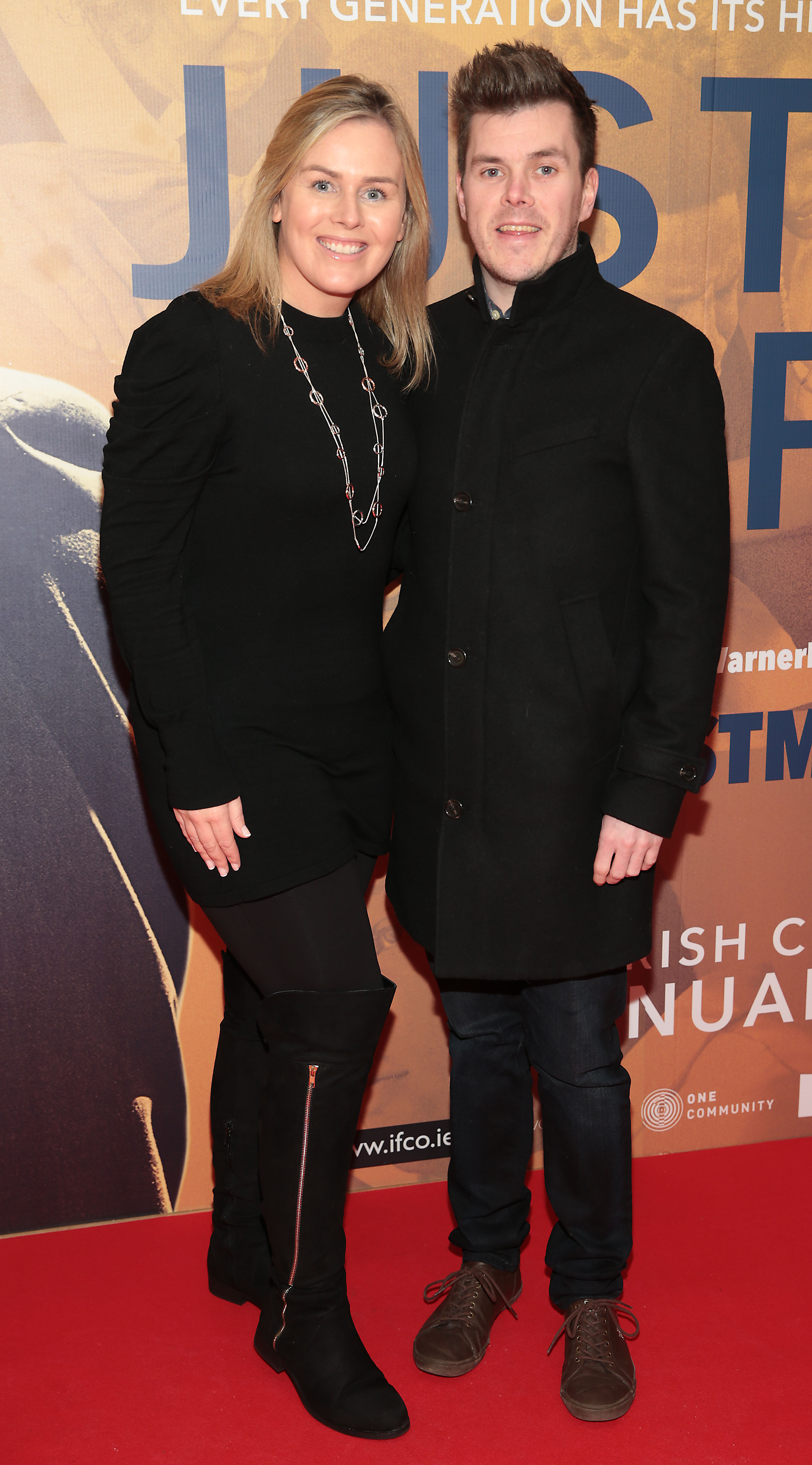Caitriona O Connor and Joe Slater at the special preview screening of Just Mercy at the Lighthouse Cinema, Dublin. Pic Brian McEvoy