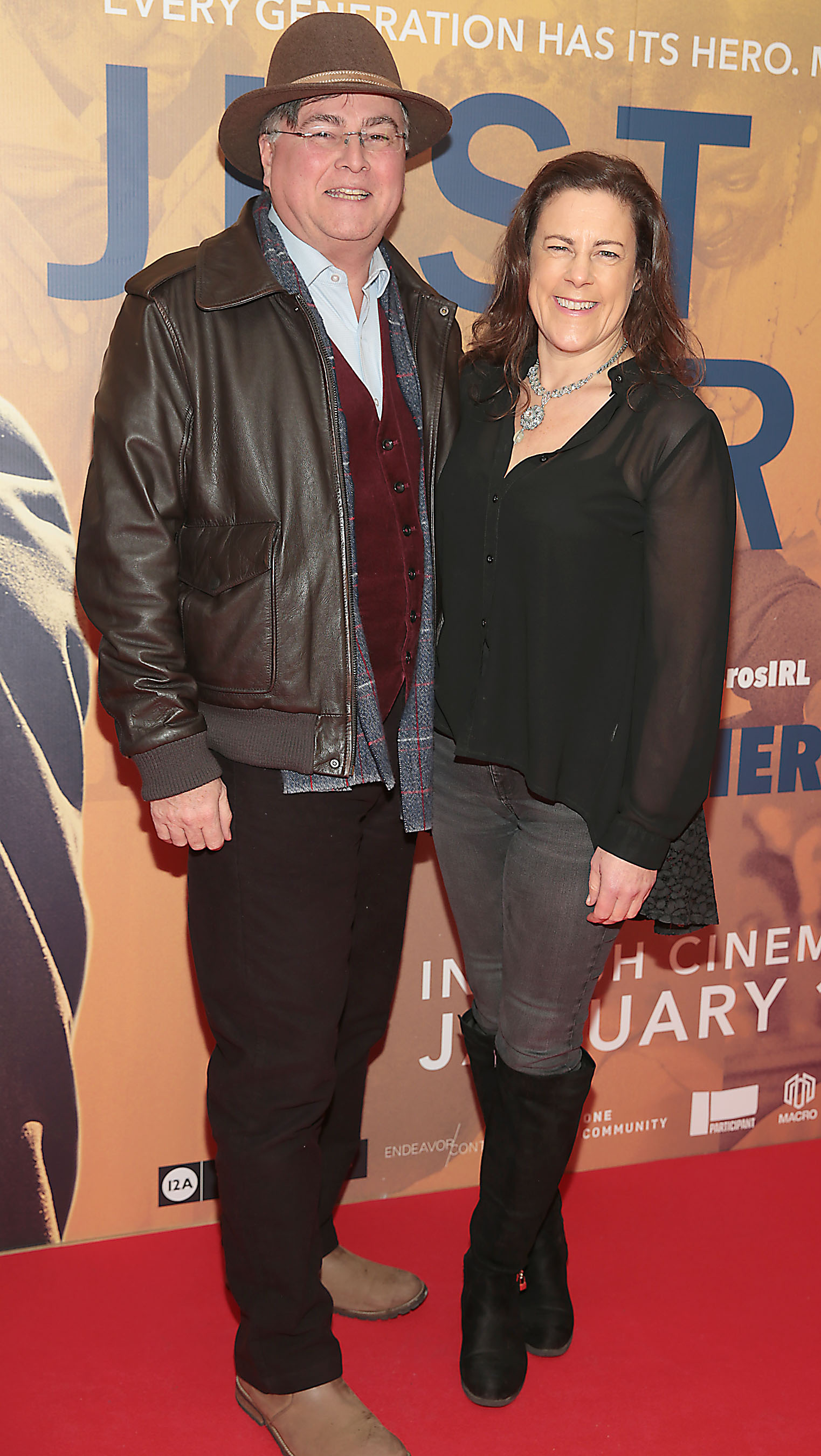 Rebecca Burrell and Peter Kenny at the special preview screening of Just Mercy at the Lighthouse Cinema, Dublin. Pic Brian McEvoy