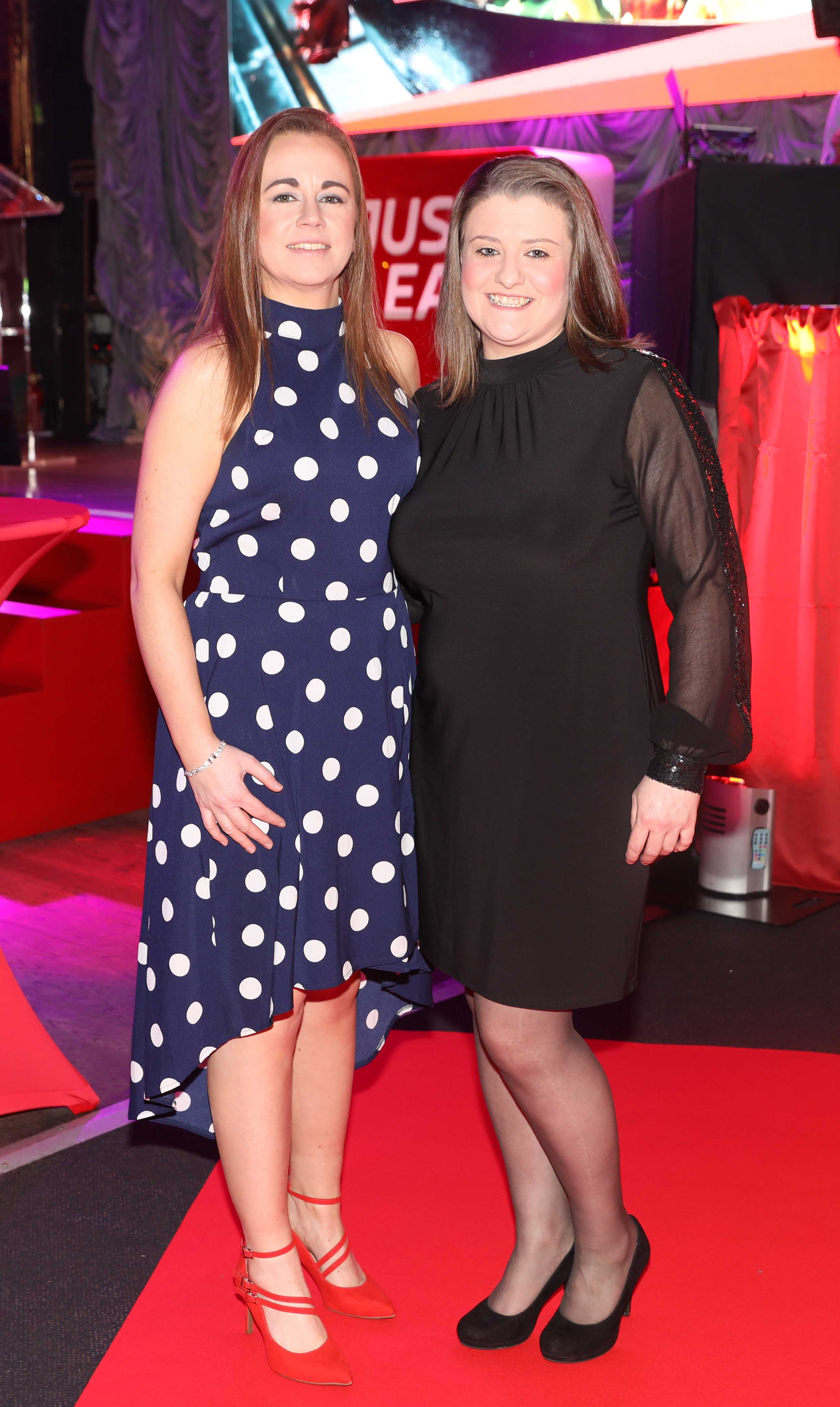 Pictured last night were Claire McGinley and Ciara Scalici at the sixth annual Just Eat National Takeaway Awards in Dublin's Twenty Two. Photograph: Leon Farrell / Photocall Ireland