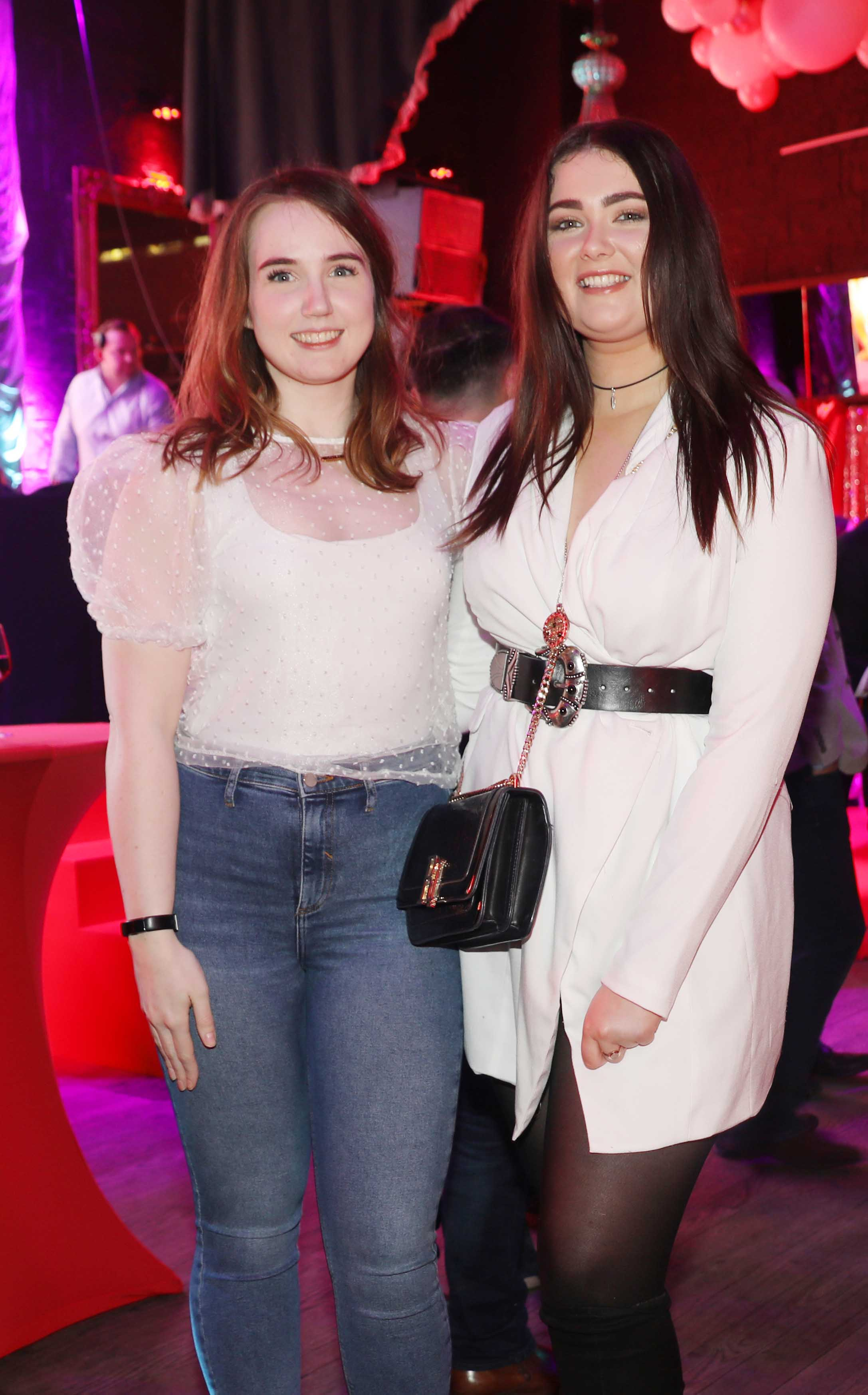 Pictured last night were Louise Burne and Ciara O'Loughlin at the sixth annual Just Eat National Takeaway Awards in Dublin's Twenty Two. Photograph: Leon Farrell / Photocall Ireland