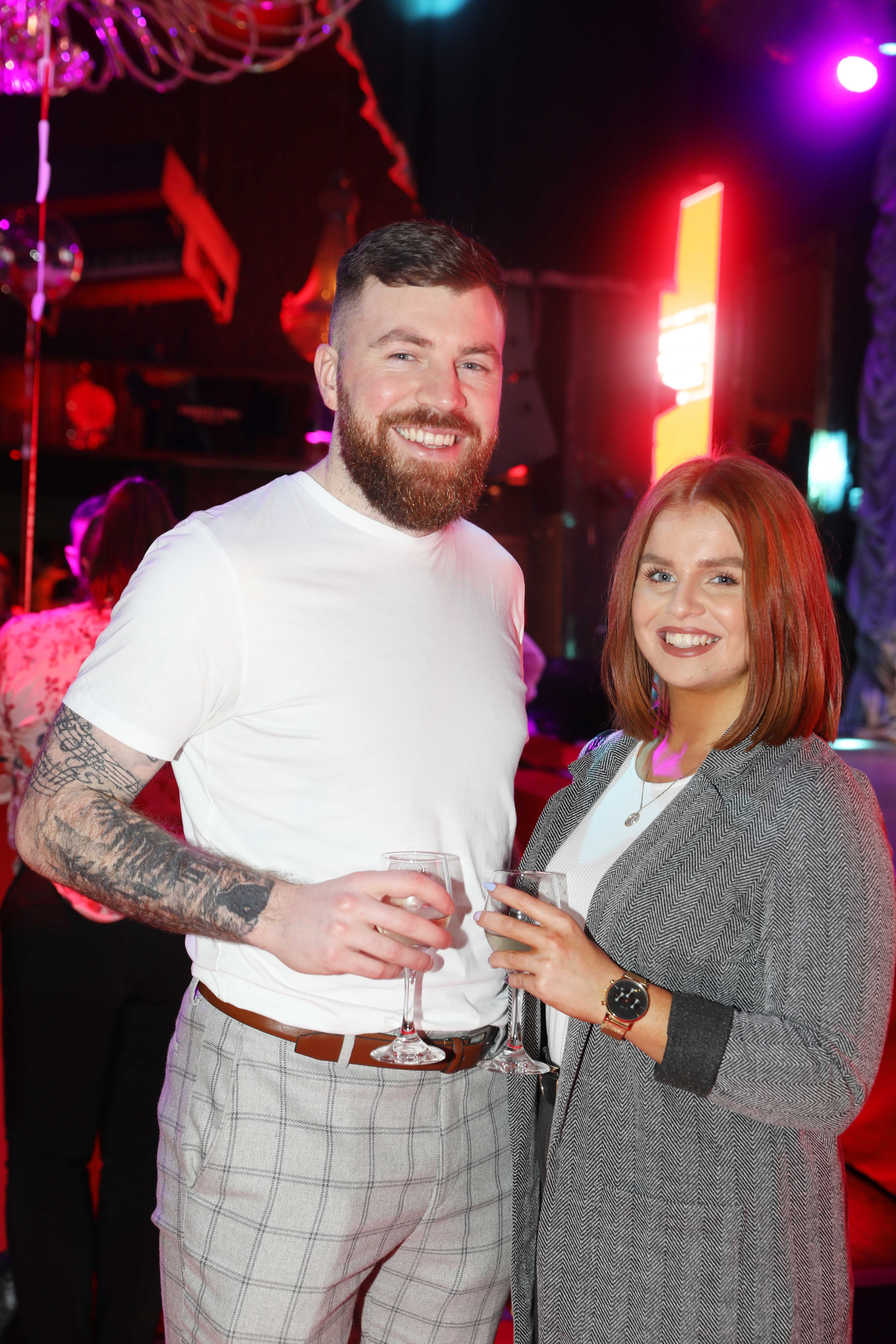Pictured last night were Craig Kearney and Amie Edmonds at the sixth annual Just Eat National Takeaway Awards in Dublin's Twenty Two. Photograph: Leon Farrell / Photocall Ireland