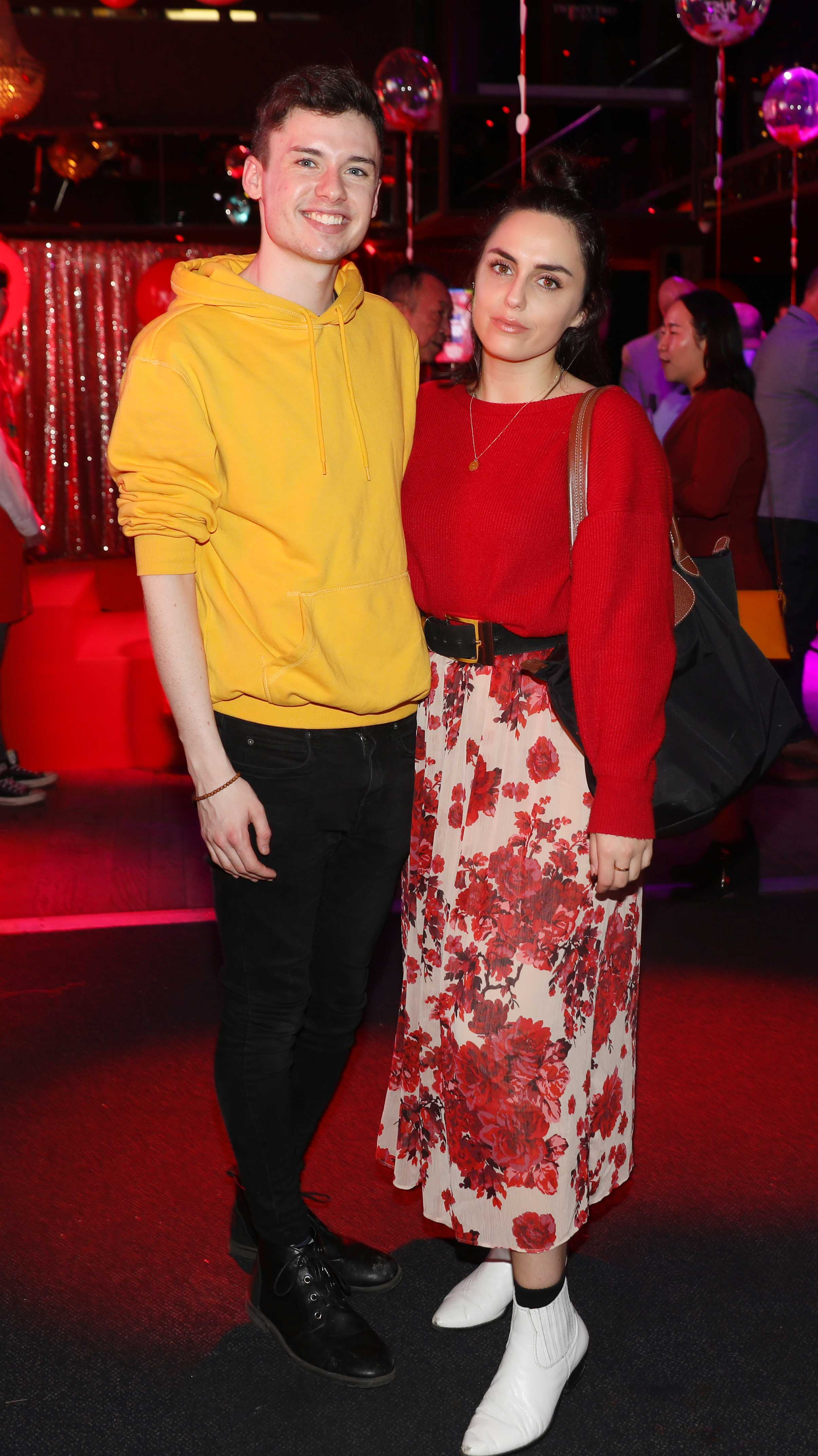 Pictured last night were Brian Dillonand Saoirse Dalton at the sixth annual Just Eat National Takeaway Awards in Dublin's Twenty Two. Photograph: Leon Farrell / Photocall Ireland