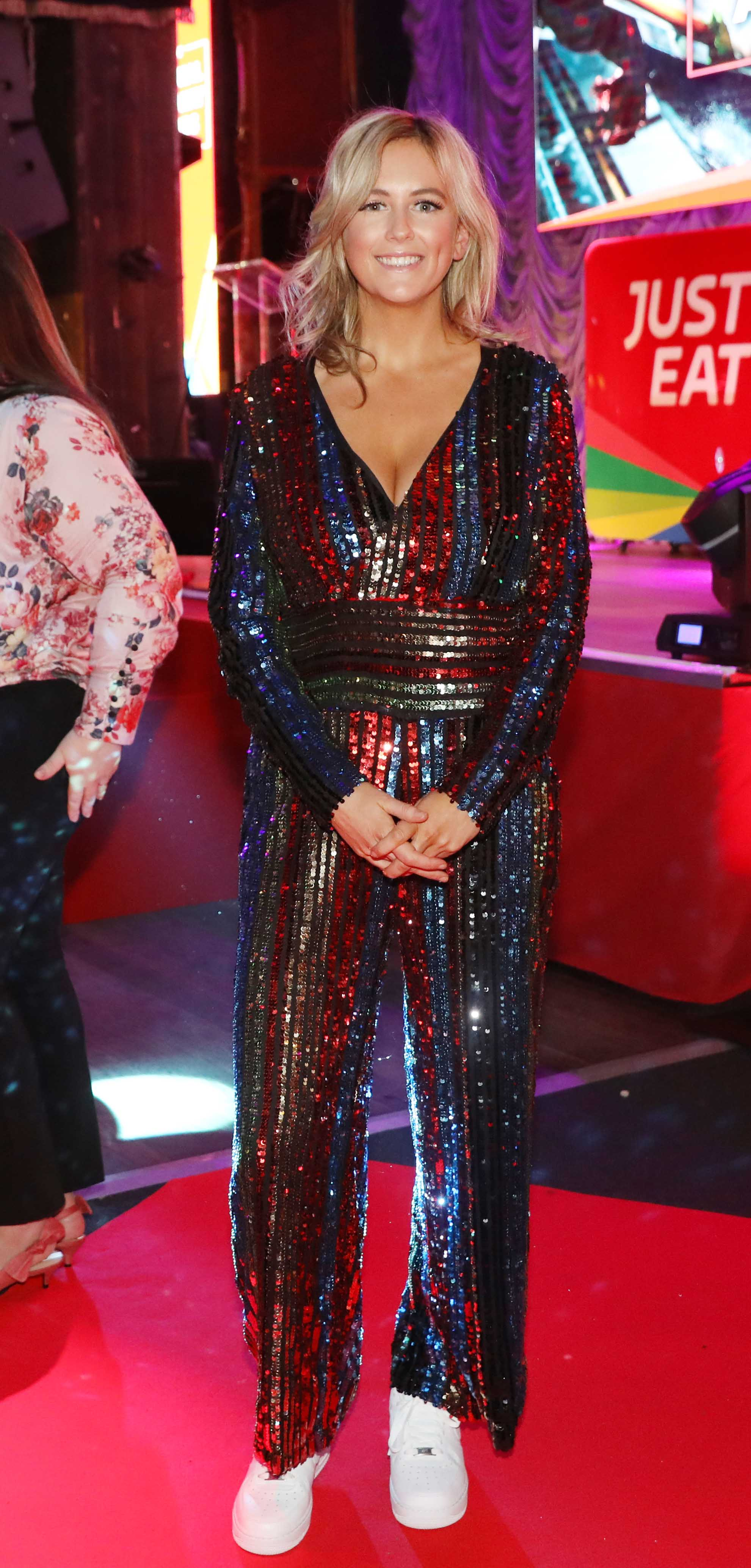 Pictured last night was Cassie Stokes at the sixth annual Just Eat National Takeaway Awards in Dublin's Twenty Two. Photograph: Leon Farrell / Photocall Ireland
