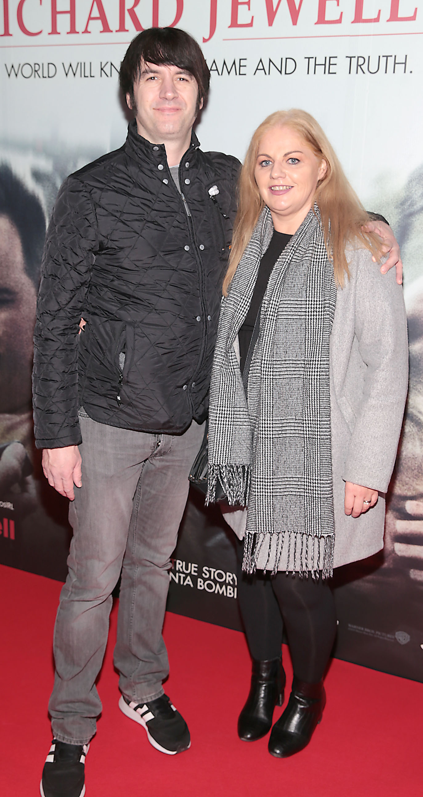 John Hughes and Celine Hughes pictured at the special preview screening of Richard Jewell at Cineworld, Dublin. Pic: Brian McEvoy