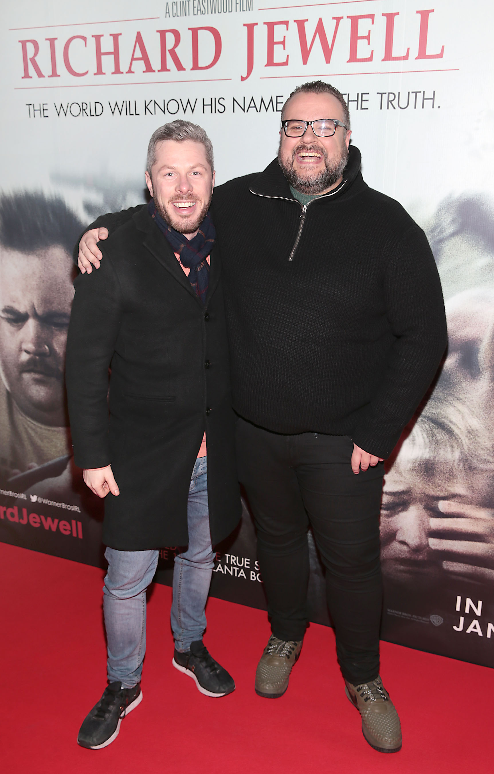Jeff Doyle and Rory Cashin pictured at the special preview screening of Richard Jewell at Cineworld, Dublin. Pic: Brian McEvoy
