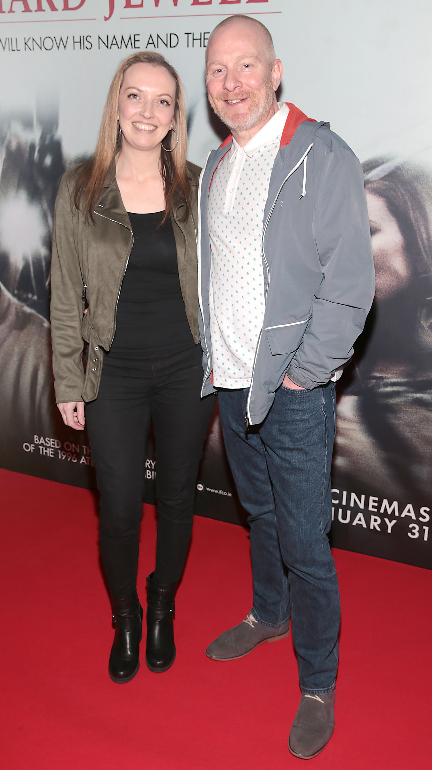 Anna Thompson and Mark Thompson pictured at the special preview screening of Richard Jewell at Cineworld, Dublin. Pic: Brian McEvoy