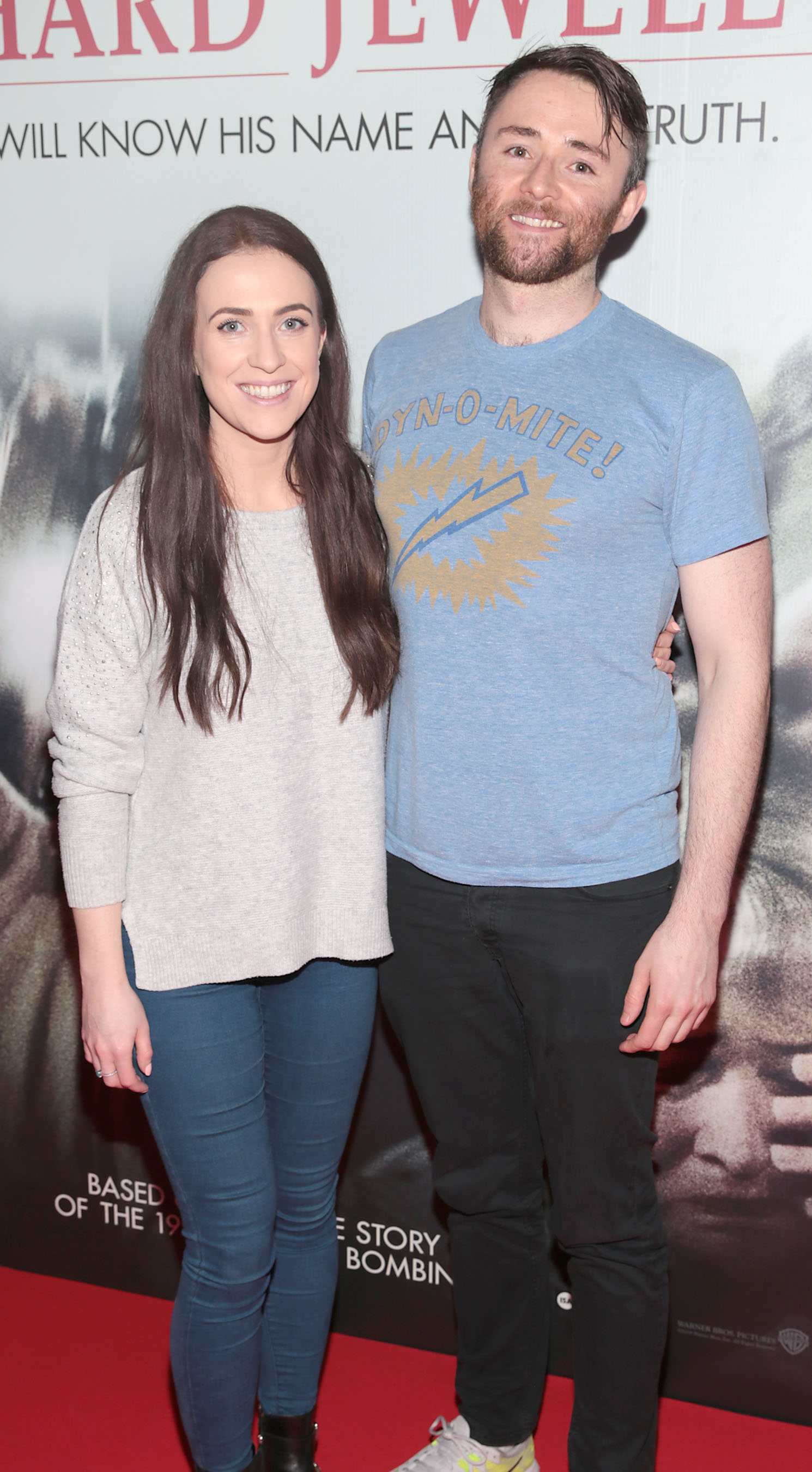 Maria McBride and Shane Long pictured at the special preview screening of Richard Jewell at Cineworld, Dublin. Pic: Brian McEvoy